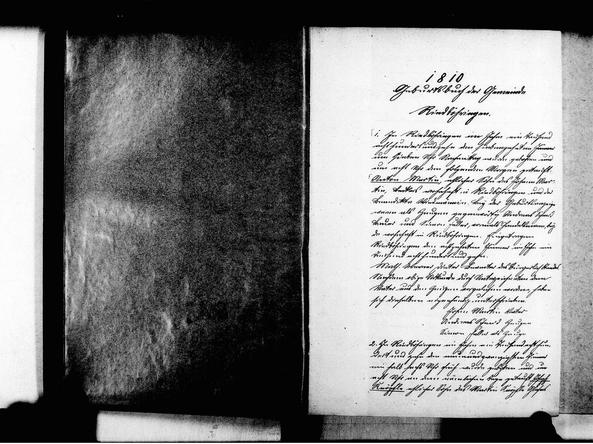 Riedböhringen, Blumberg VS; Katholische Gemeinde: Geburtenbuch 1810-1870, Bild 3