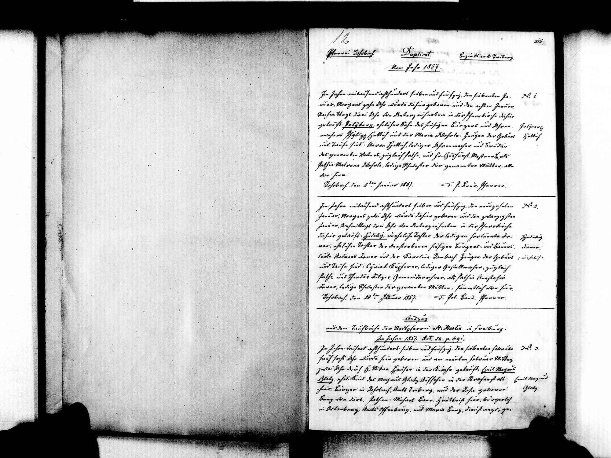 Rohrbach, Furtwangen VS; Katholische Gemeinde: Standesbuch 1857-1870, Bild 3
