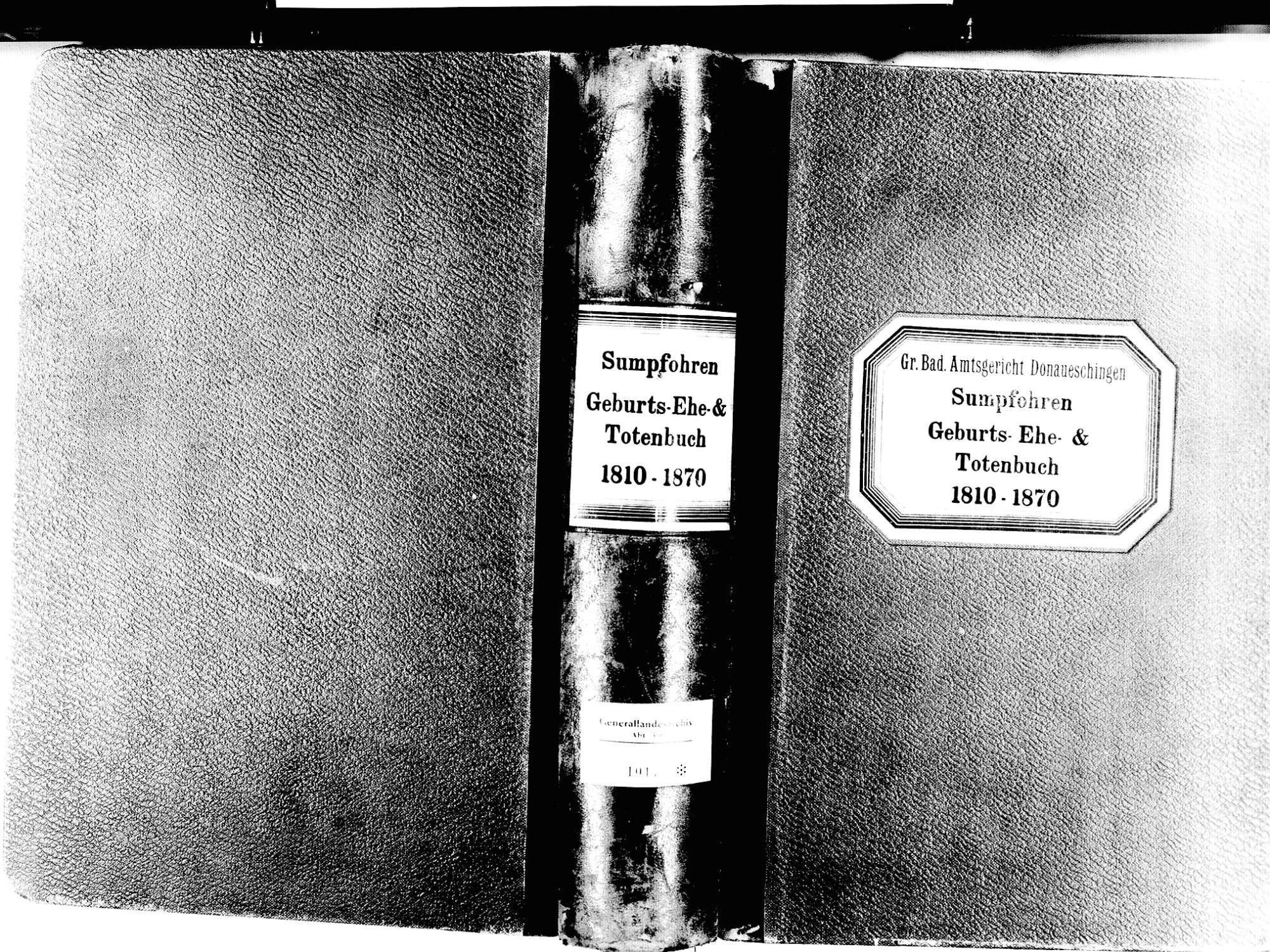 Sumpfohren, Hüfingen VS; Katholische Gemeinde: Standesbuch 1810-1870, Bild 1