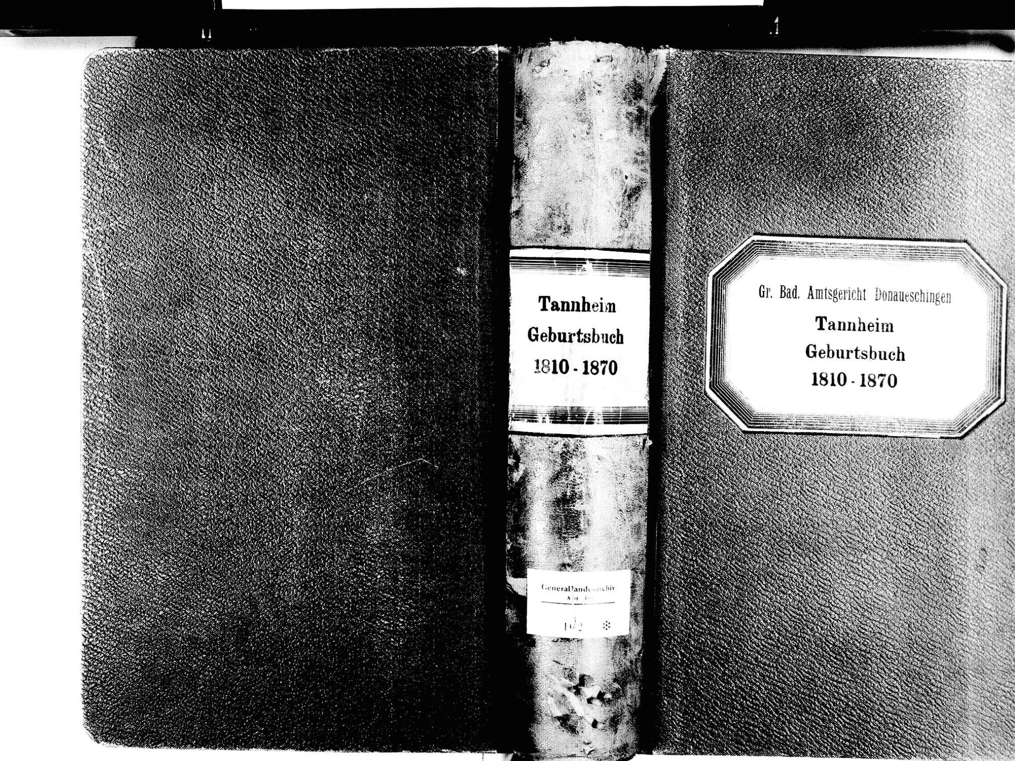 Tannheim, Villingen-Schwenningen VS; Katholische Gemeinde: Geburtenbuch 1810-1870, Bild 1