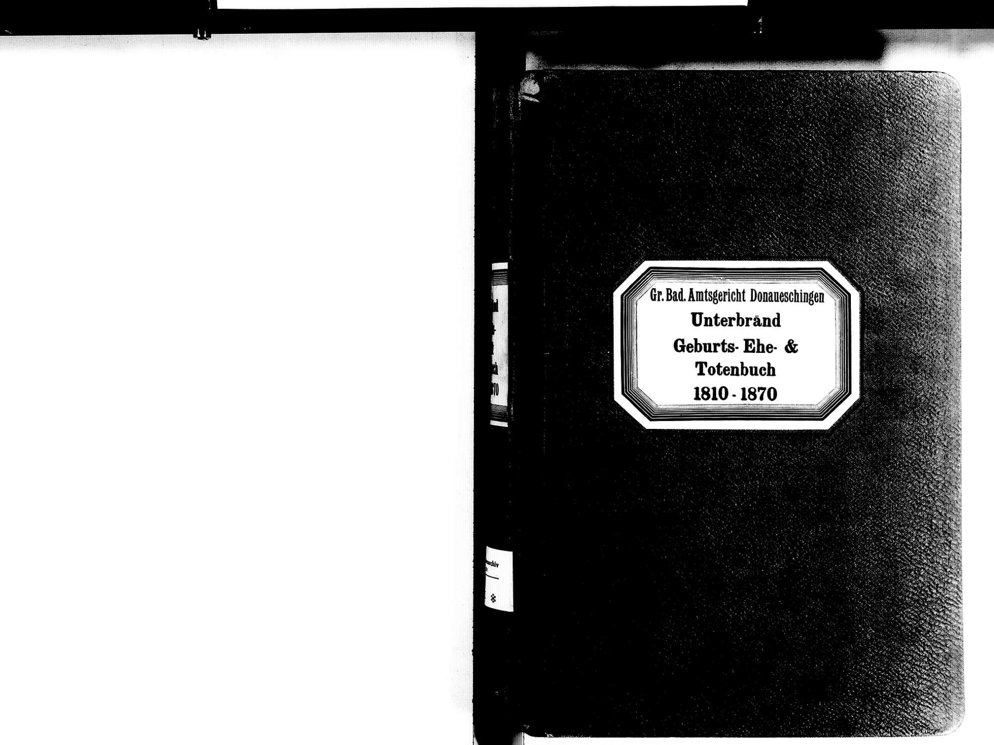 Unterbränd, Bräunlingen VS; Katholische Gemeinde: Standesbuch 1810-1870, Bild 2