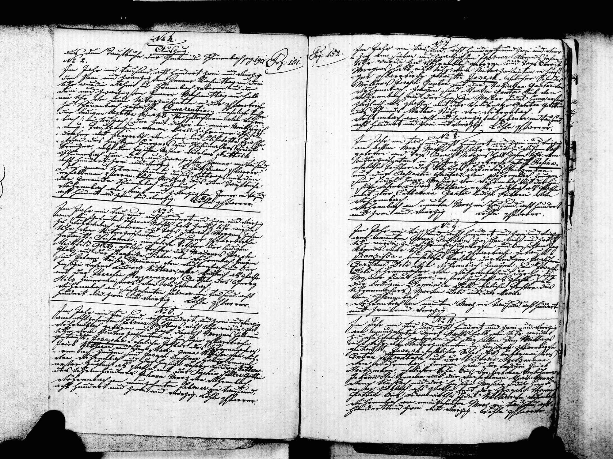 Vöhrenbach VS; Katholische Gemeinde: Geburtenbuch 1842-1869, Bild 3