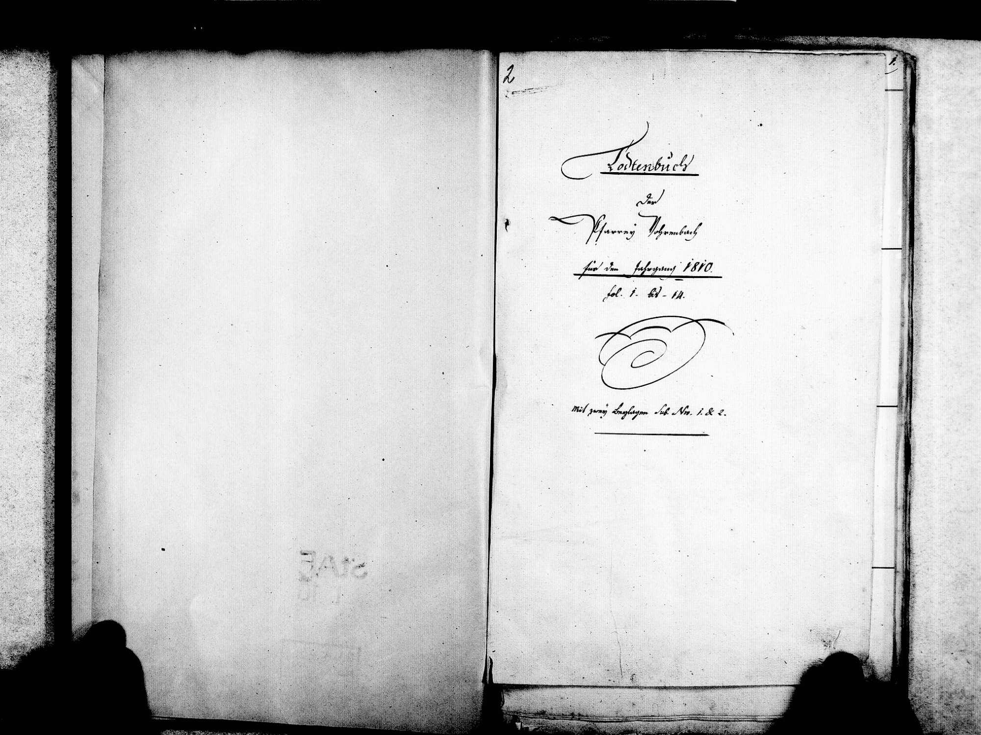 Vöhrenbach VS; Katholische Gemeinde: Sterbebuch 1810-1845, Bild 3