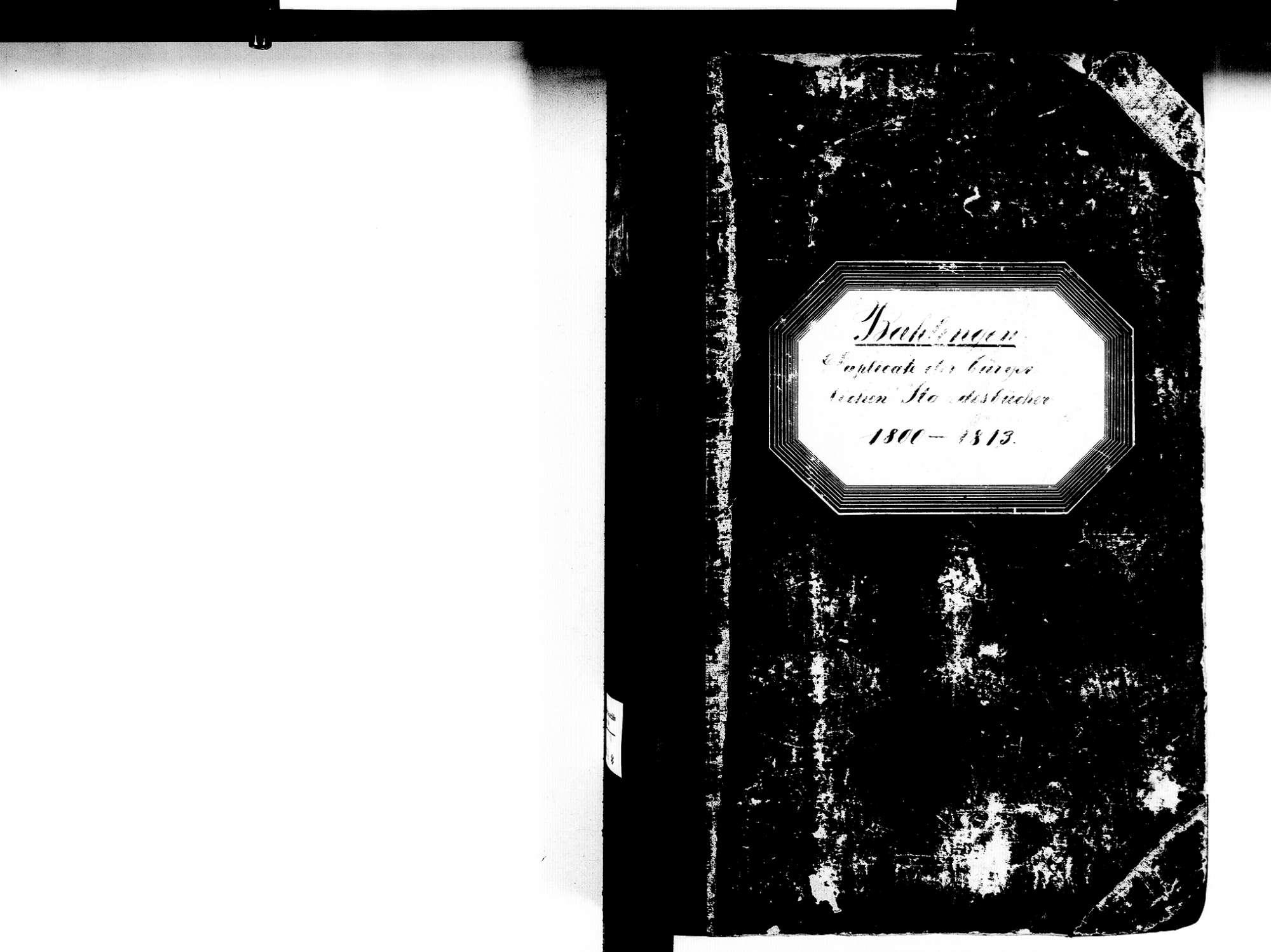Bahlingen EM; Evangelische Gemeinde: Standesbuch 1800-1813, Bild 2