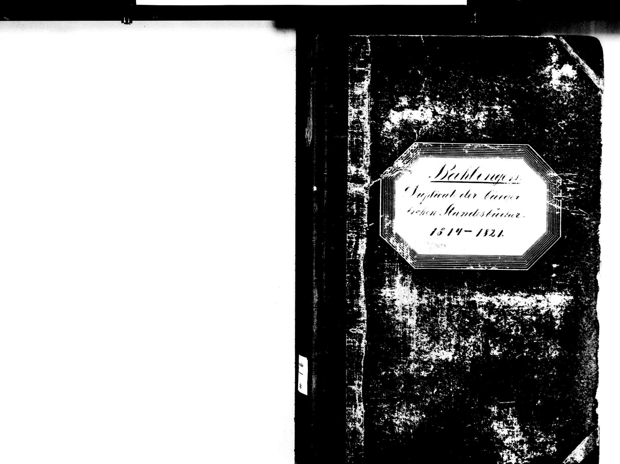Bahlingen EM; Evangelische Gemeinde: Standesbuch 1814-1821, Bild 2