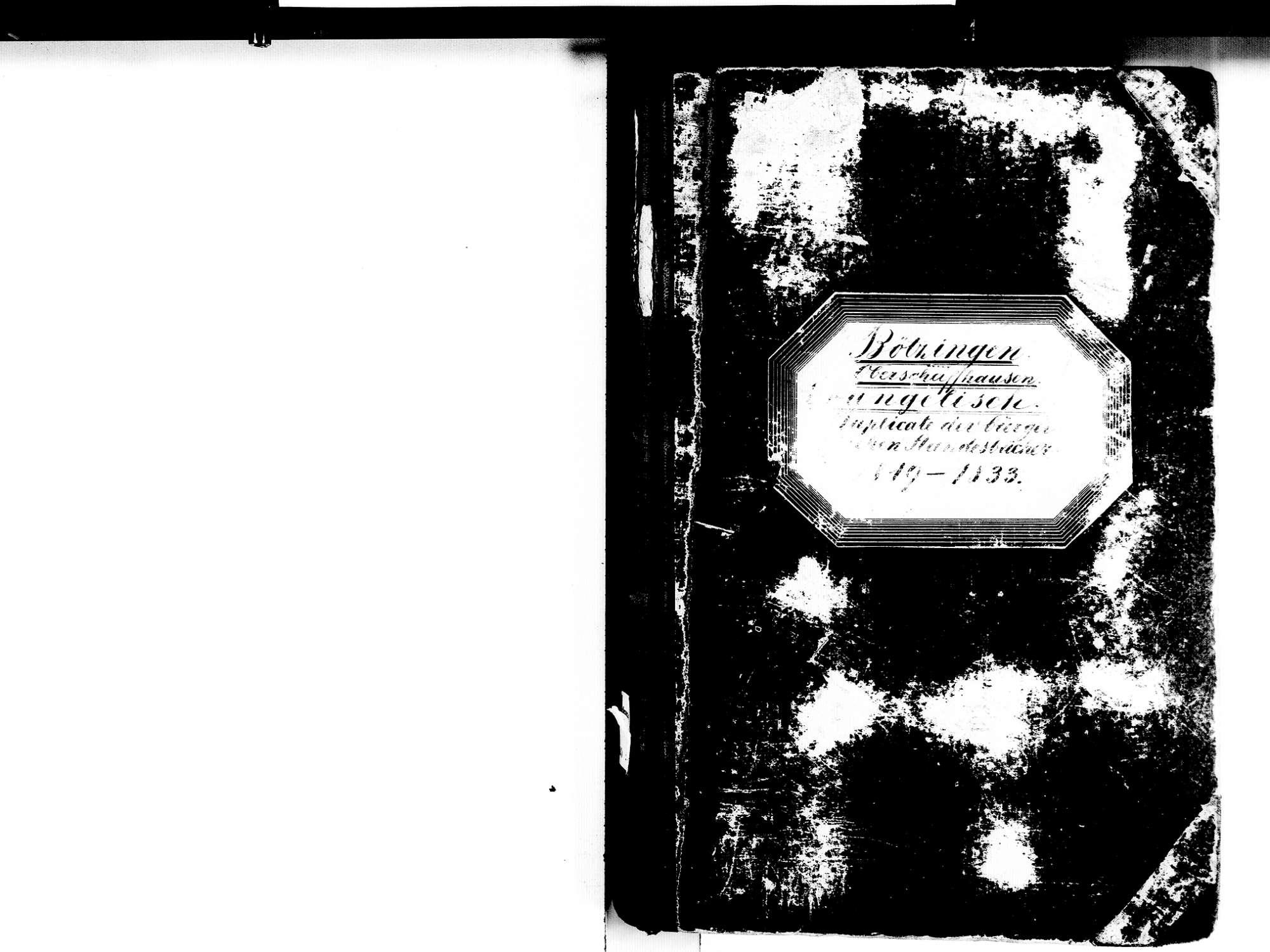 Bötzingen FR; Evangelische Gemeinde: Standesbuch 1819-1833, Bild 2
