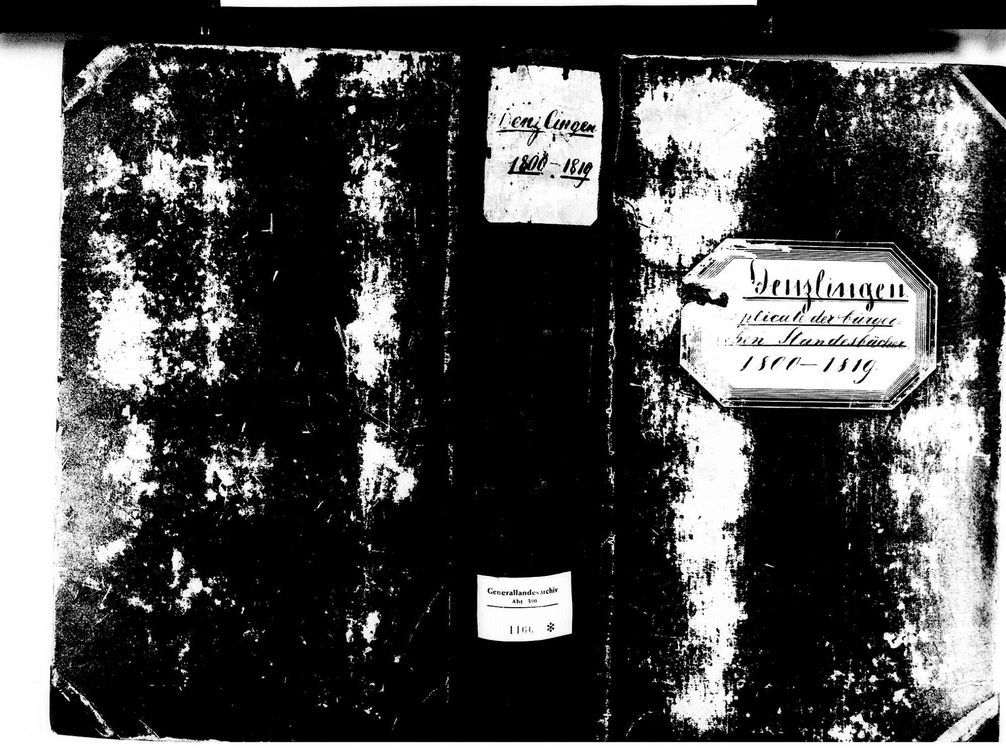 Denzlingen EM; Evangelische Gemeinde: Standesbuch 1800-1819, Bild 1