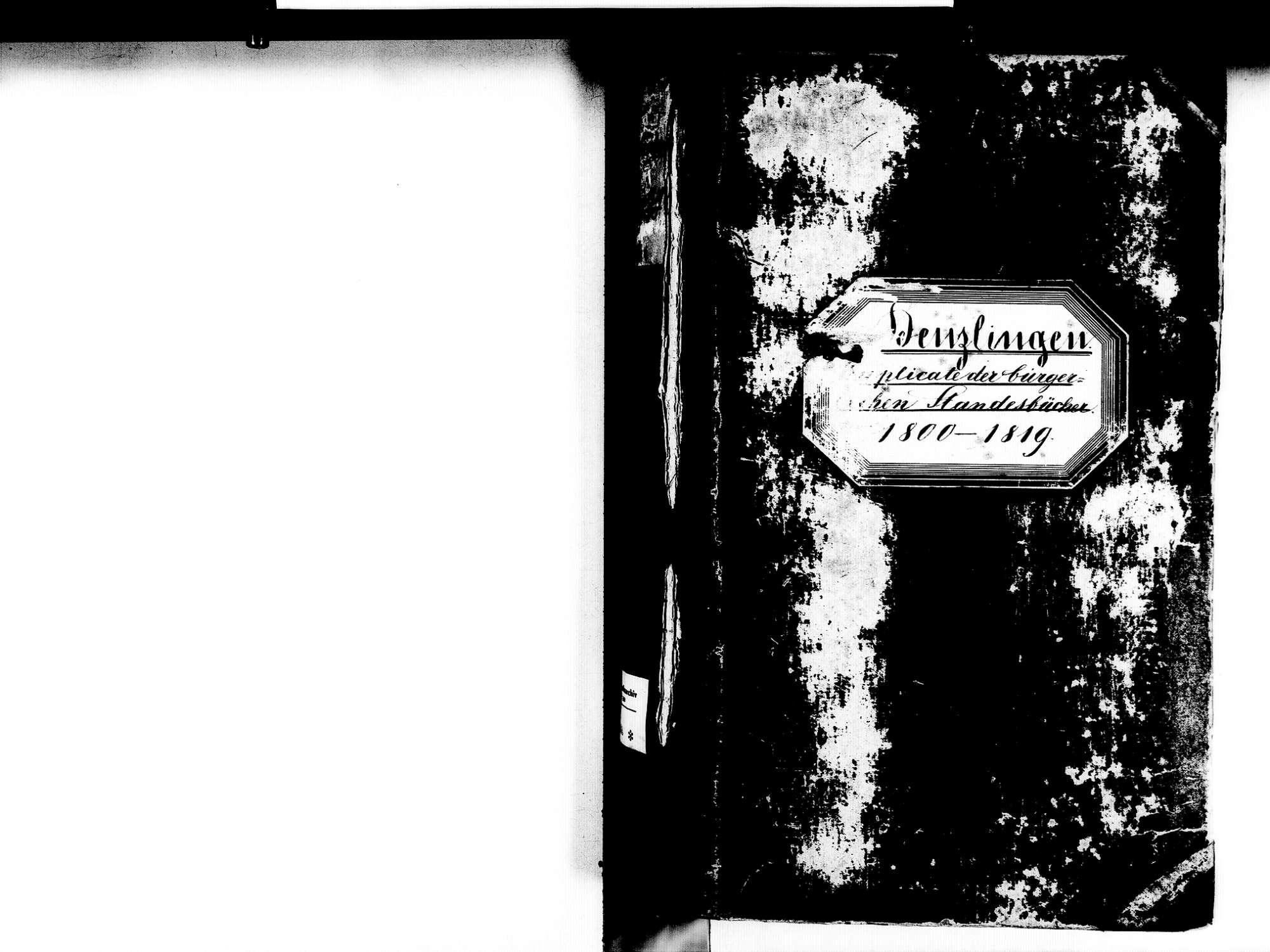 Denzlingen EM; Evangelische Gemeinde: Standesbuch 1800-1819, Bild 2