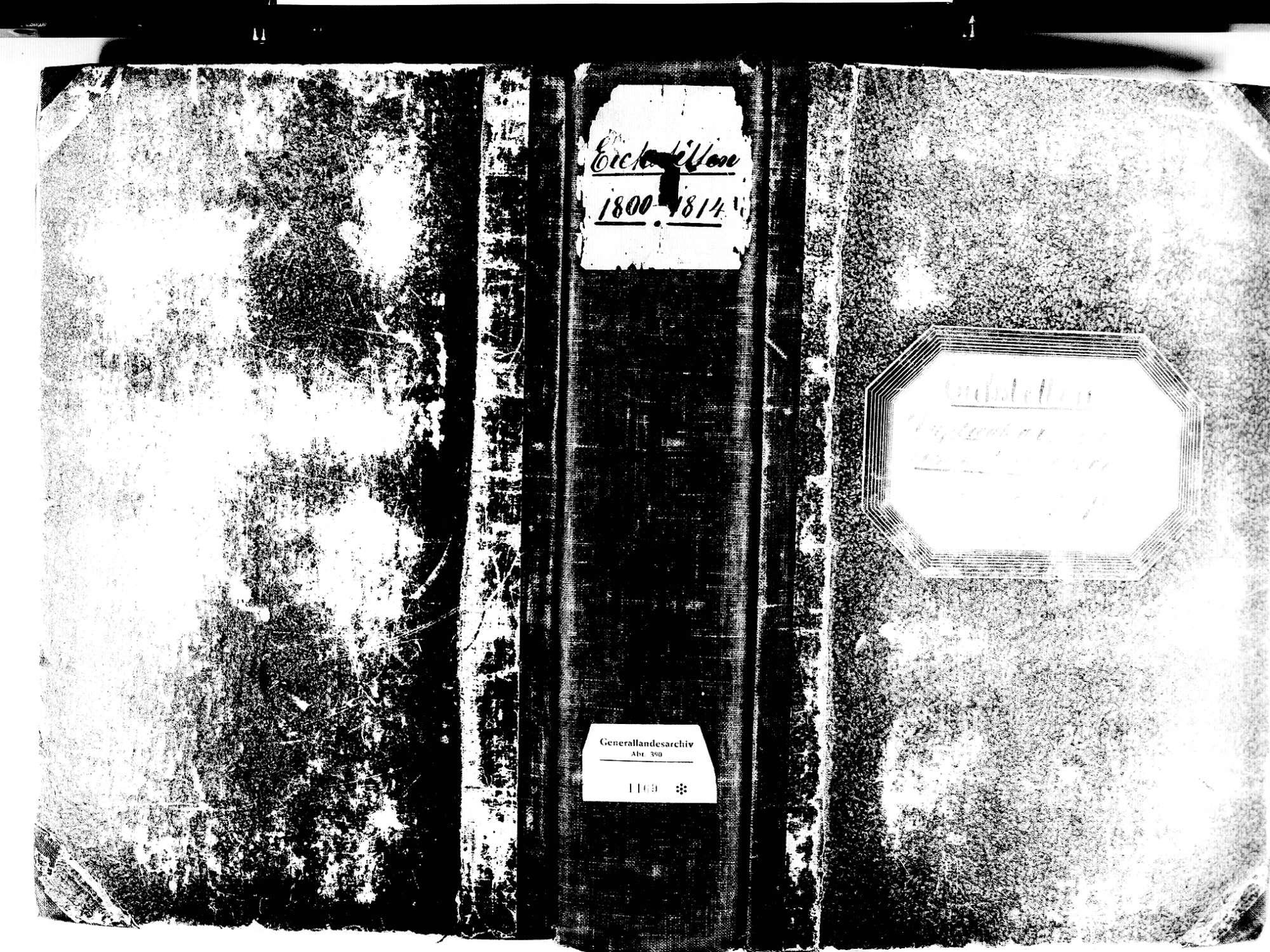 Eichstetten FR; Evangelische Gemeinde: Standesbuch 1800-1814 Eichstetten FR; Israelitische Gemeinde: Standesbuch 1800-1814, Bild 1