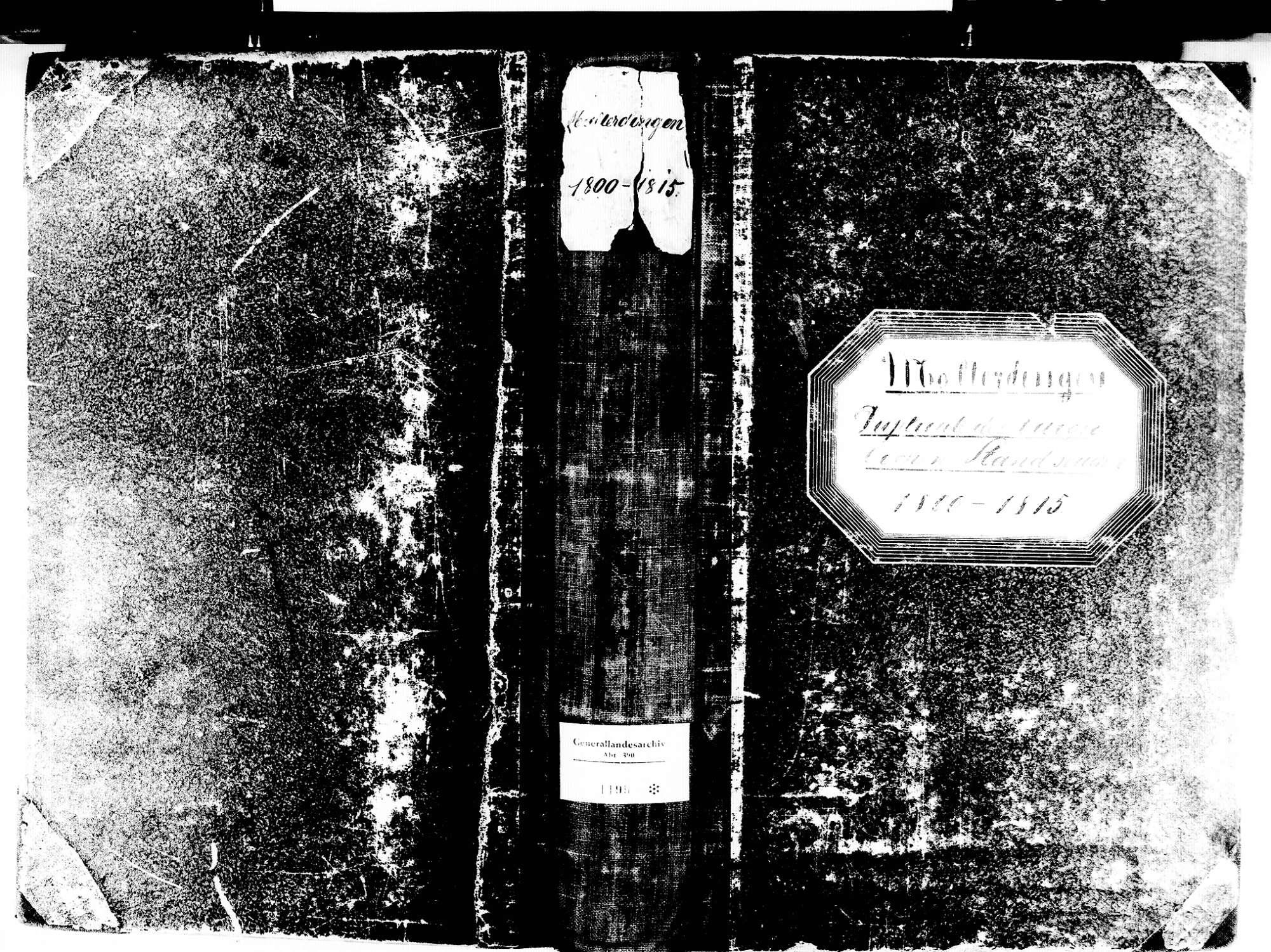 Malterdingen EM; Evangelische Gemeinde: Standesbuch 1800-1815 Enthält: Einzelne Katholische Einträge, Bild 1