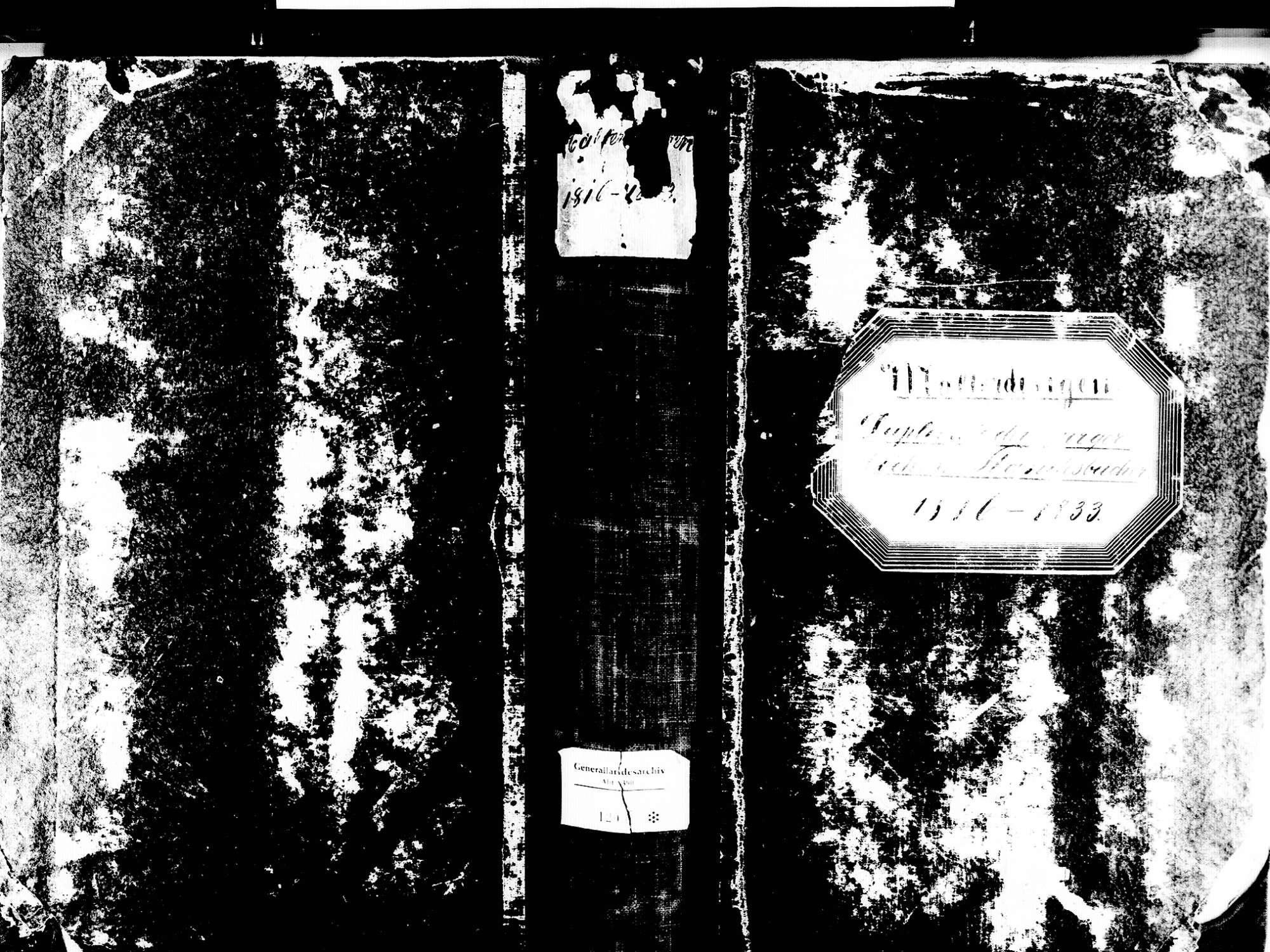Malterdingen EM; Evangelische Gemeinde: Standesbuch 1816-1833 Enthält: Einzelne Katholische Einträge, Bild 1
