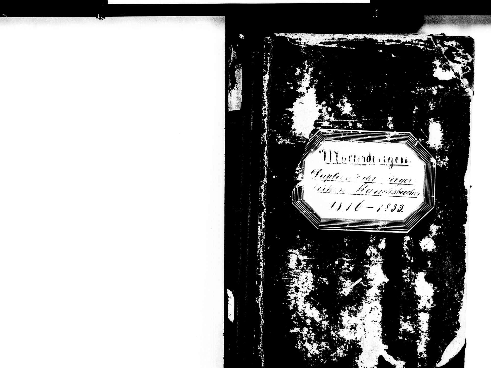 Malterdingen EM; Evangelische Gemeinde: Standesbuch 1816-1833 Enthält: Einzelne Katholische Einträge, Bild 2