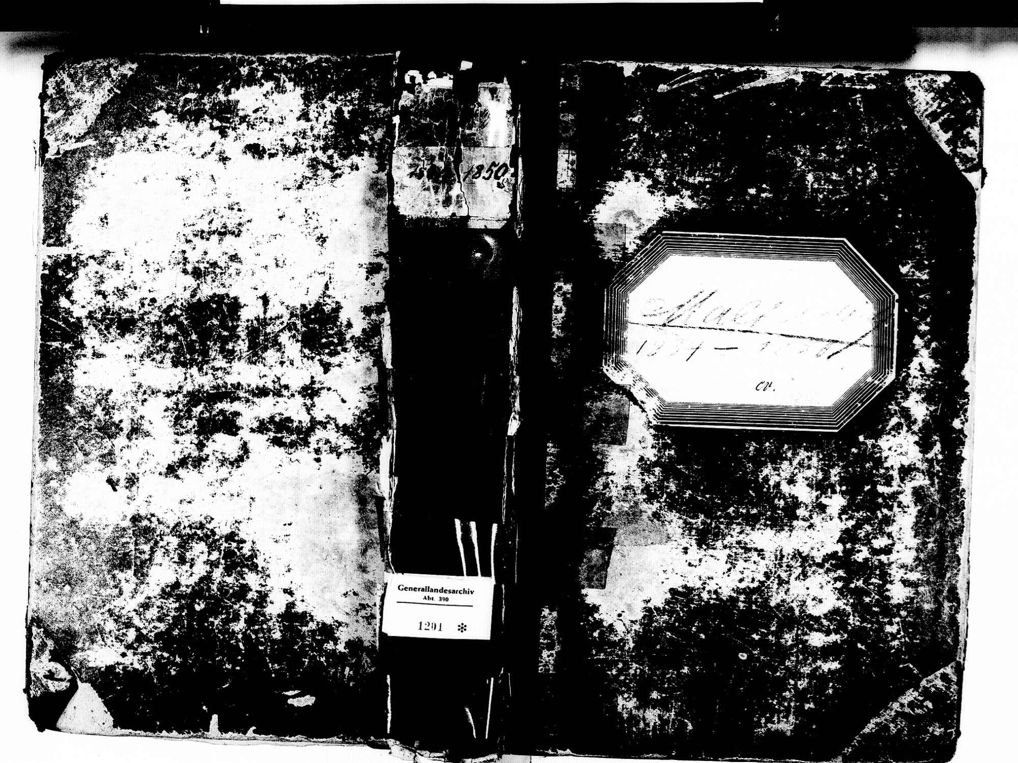 Malterdingen EM; Evangelische Gemeinde: Standesbuch 1834-1850 Enthält: Einzelne Katholische Einträge, Bild 1