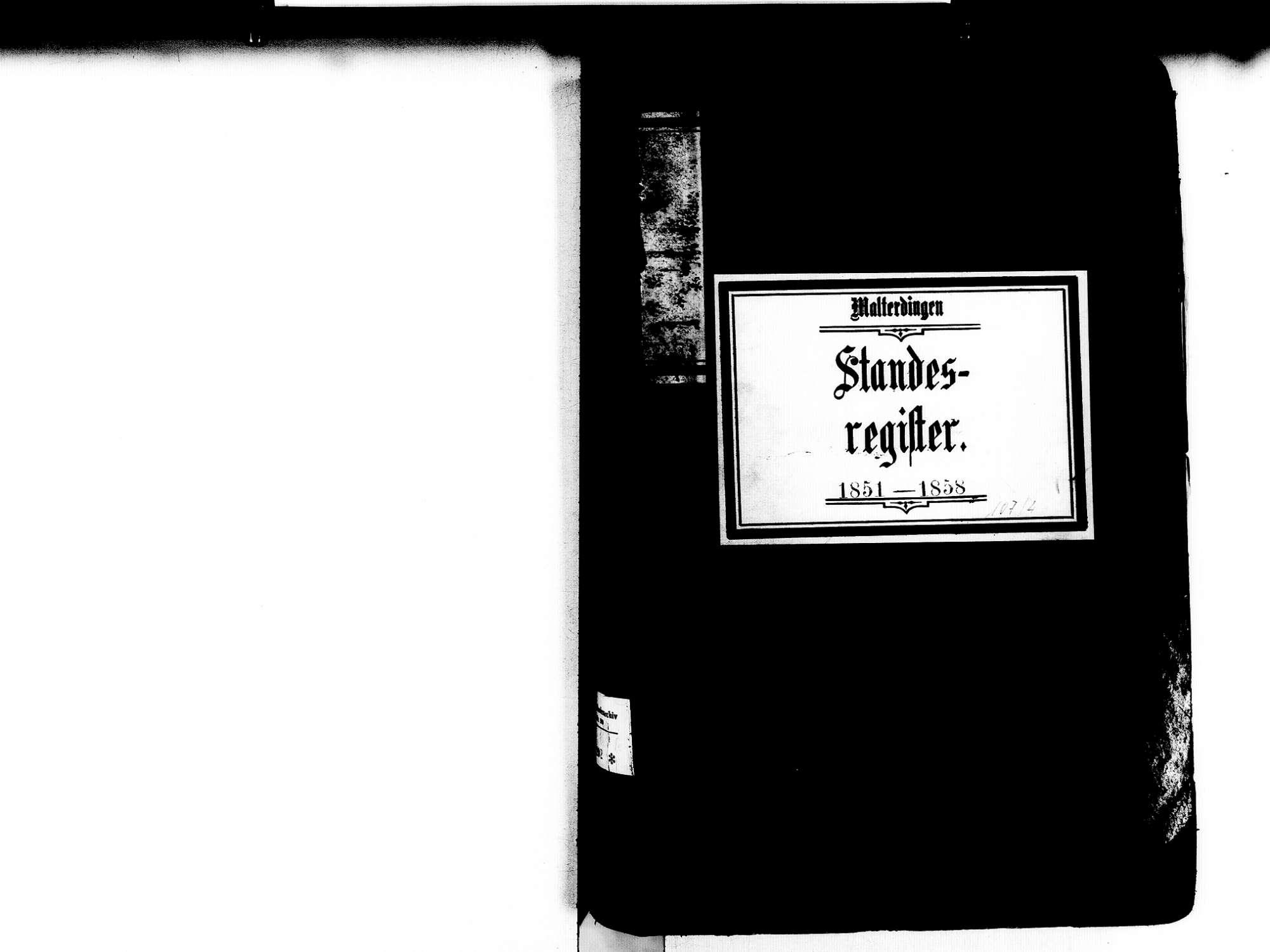 Malterdingen EM; Evangelische Gemeinde: Standesbuch 1851-1858 Enthält: Einzelne Katholische Einträge, Bild 3