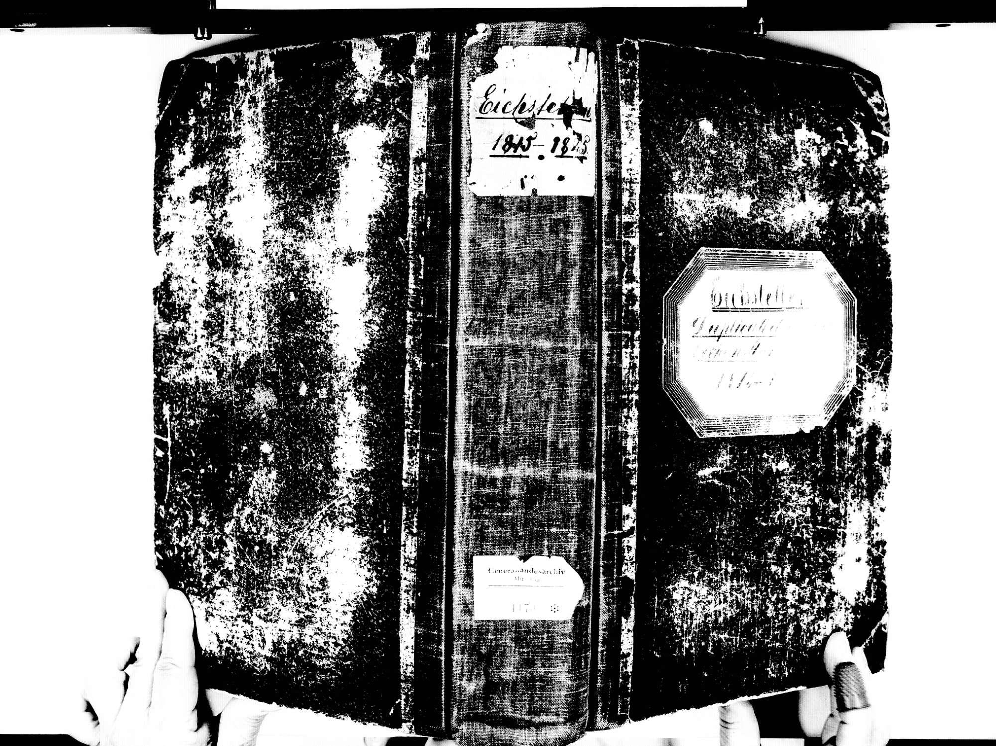 Eichstetten FR; Evangelische Gemeinde: Standesbuch 1815-1825 Eichstetten FR; Israelitische Gemeinde: Standesbuch 1815-1825, Bild 1