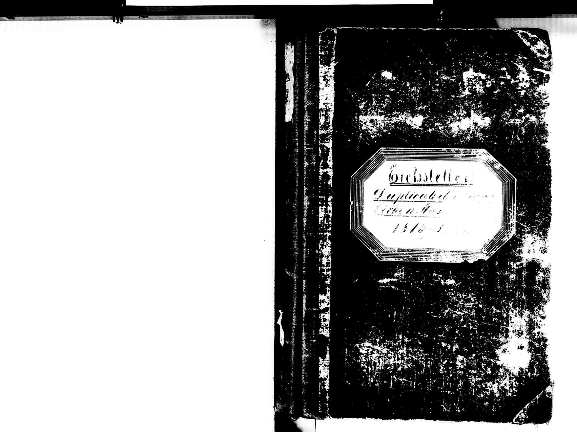 Eichstetten FR; Evangelische Gemeinde: Standesbuch 1815-1825 Eichstetten FR; Israelitische Gemeinde: Standesbuch 1815-1825, Bild 2