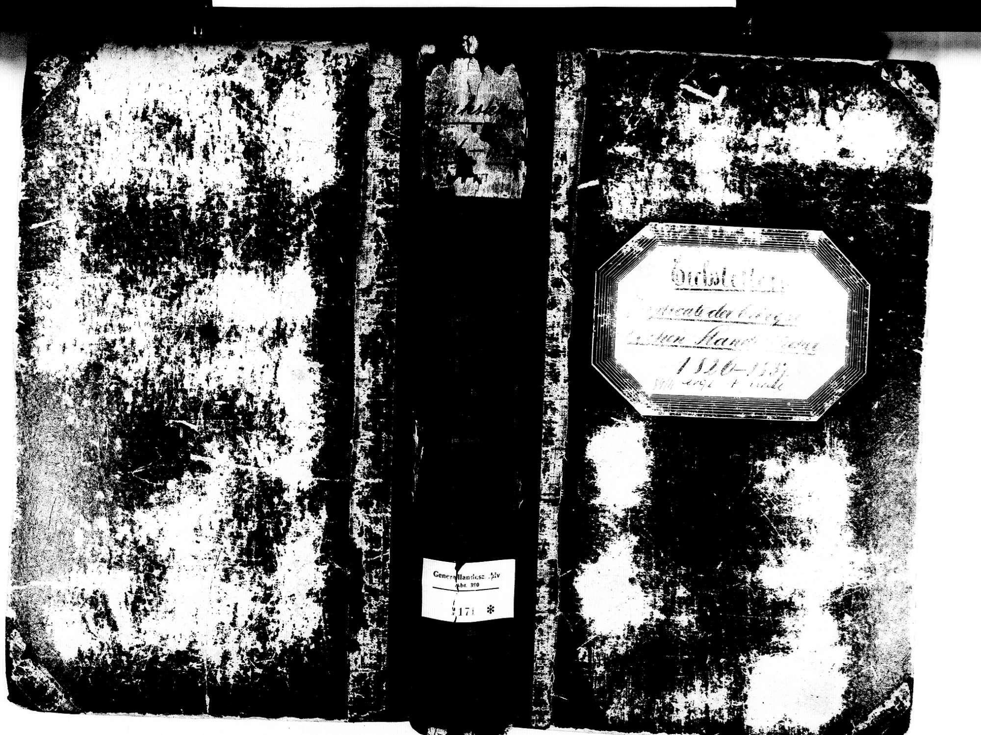 Eichstetten FR; Evangelische Gemeinde: Standesbuch 1826-1837 Eichstetten FR; Israelitische Gemeinde: Standesbuch 1826-1837, Bild 1