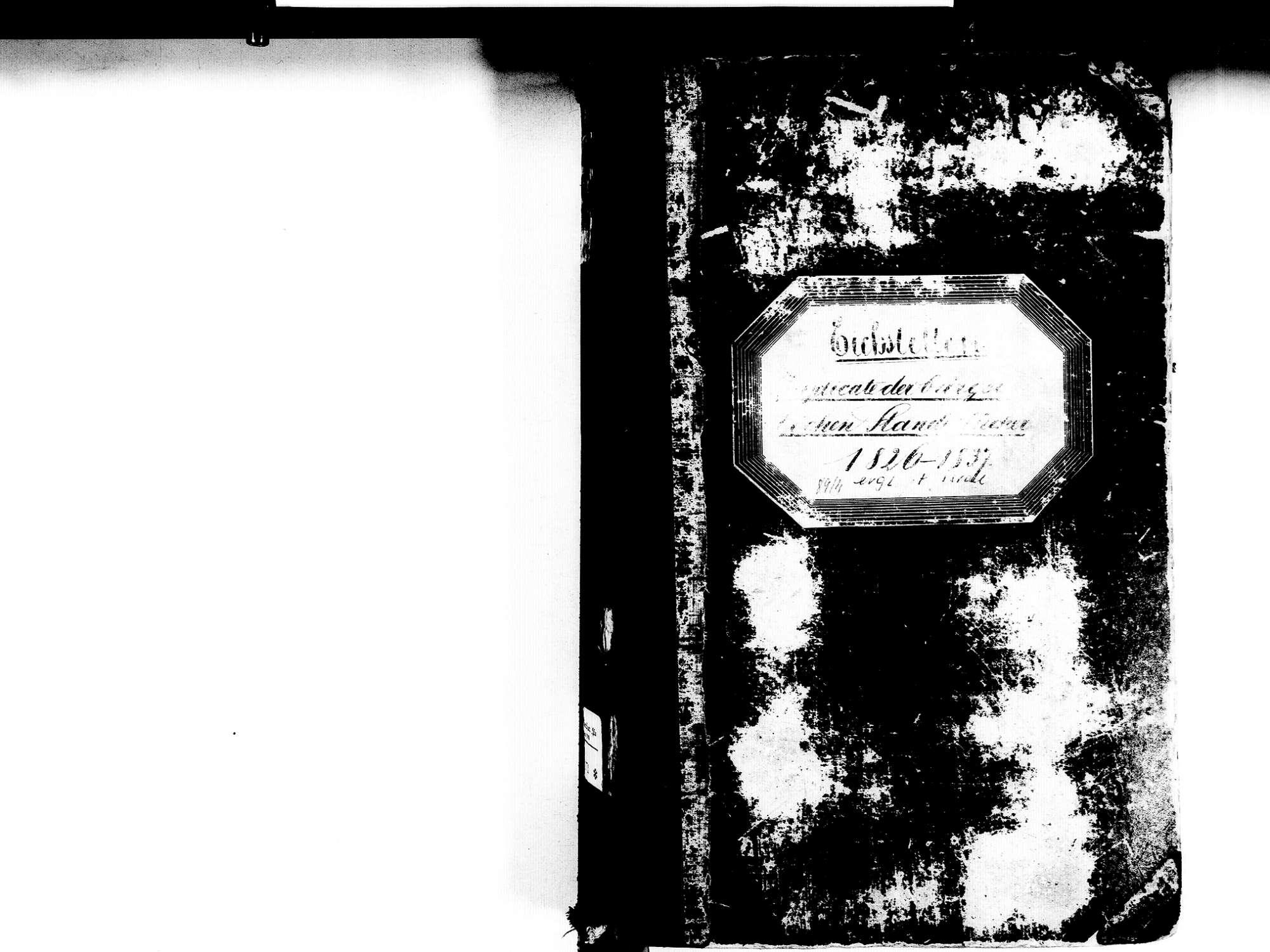 Eichstetten FR; Evangelische Gemeinde: Standesbuch 1826-1837 Eichstetten FR; Israelitische Gemeinde: Standesbuch 1826-1837, Bild 2