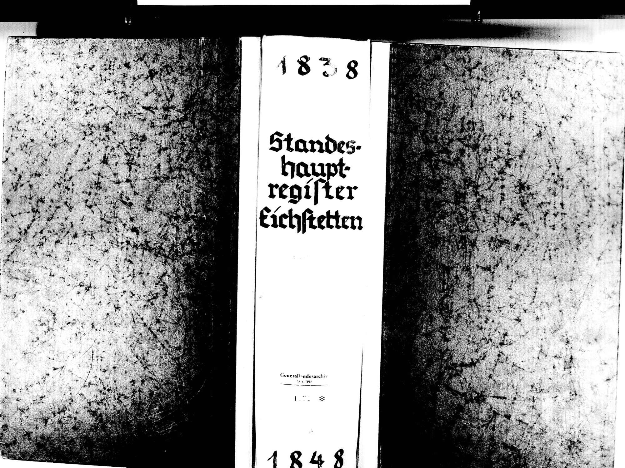 Eichstetten FR; Evangelische Gemeinde: Standesbuch 1838-1848 Eichstetten FR; Israelitische Gemeinde: Standesbuch 1838-1848, Bild 1