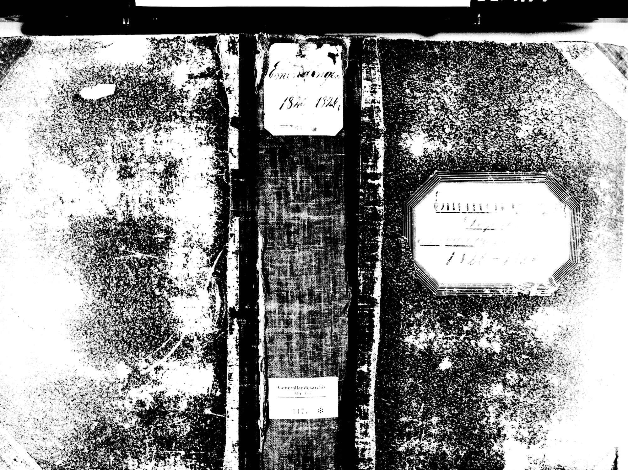 Emmendingen EM; Evangelische Gemeinde: Standesbuch 1820-1826 Emmendingen EM; Katholische Gemeinde: Standesbuch 1820-1826 Emmendingen EM; Israelitische Gemeinde: Standesbuch 1820-1826, Bild 1