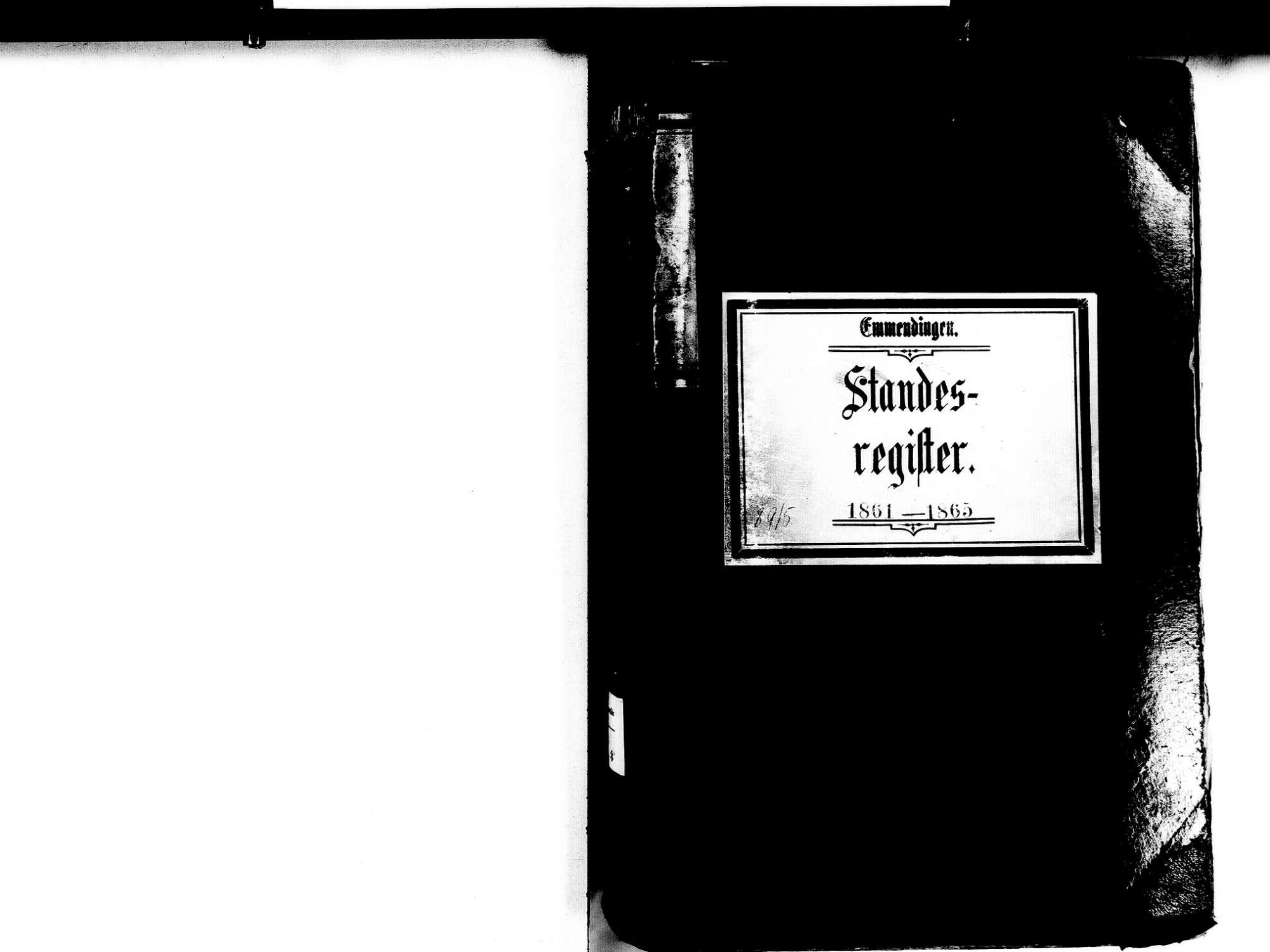 Emmendingen EM; Evangelische Gemeinde: Standesbuch 1861-1865 Emmendingen EM; Katholische Gemeinde: Standesbuch 1861-1865 Emmendingen EM; Israelitische Gemeinde: Standesbuch 1861-1865, Bild 2