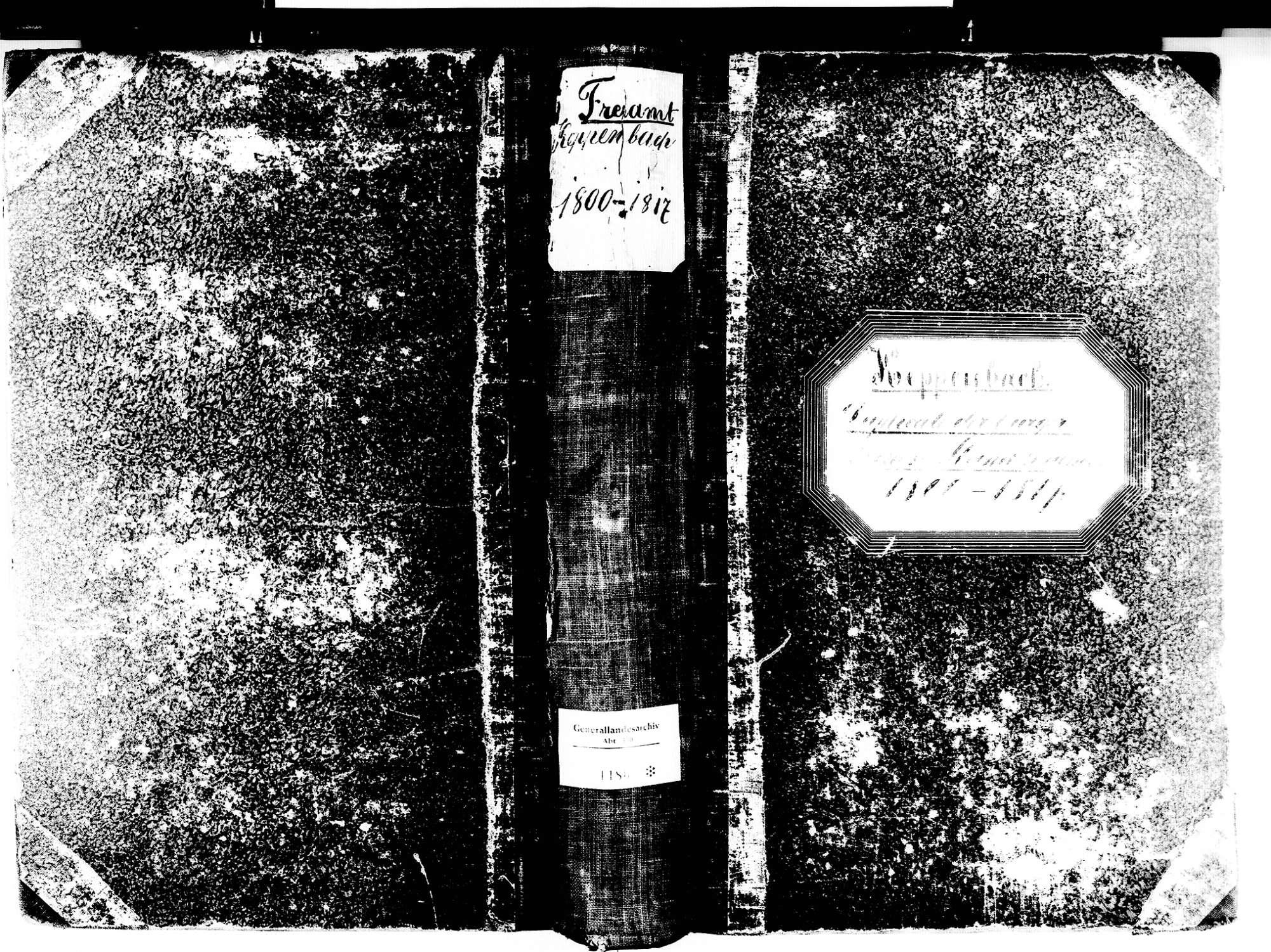 Freiamt EM; Evangelische Gemeinde: Standesbuch 1800-1817, Bild 1