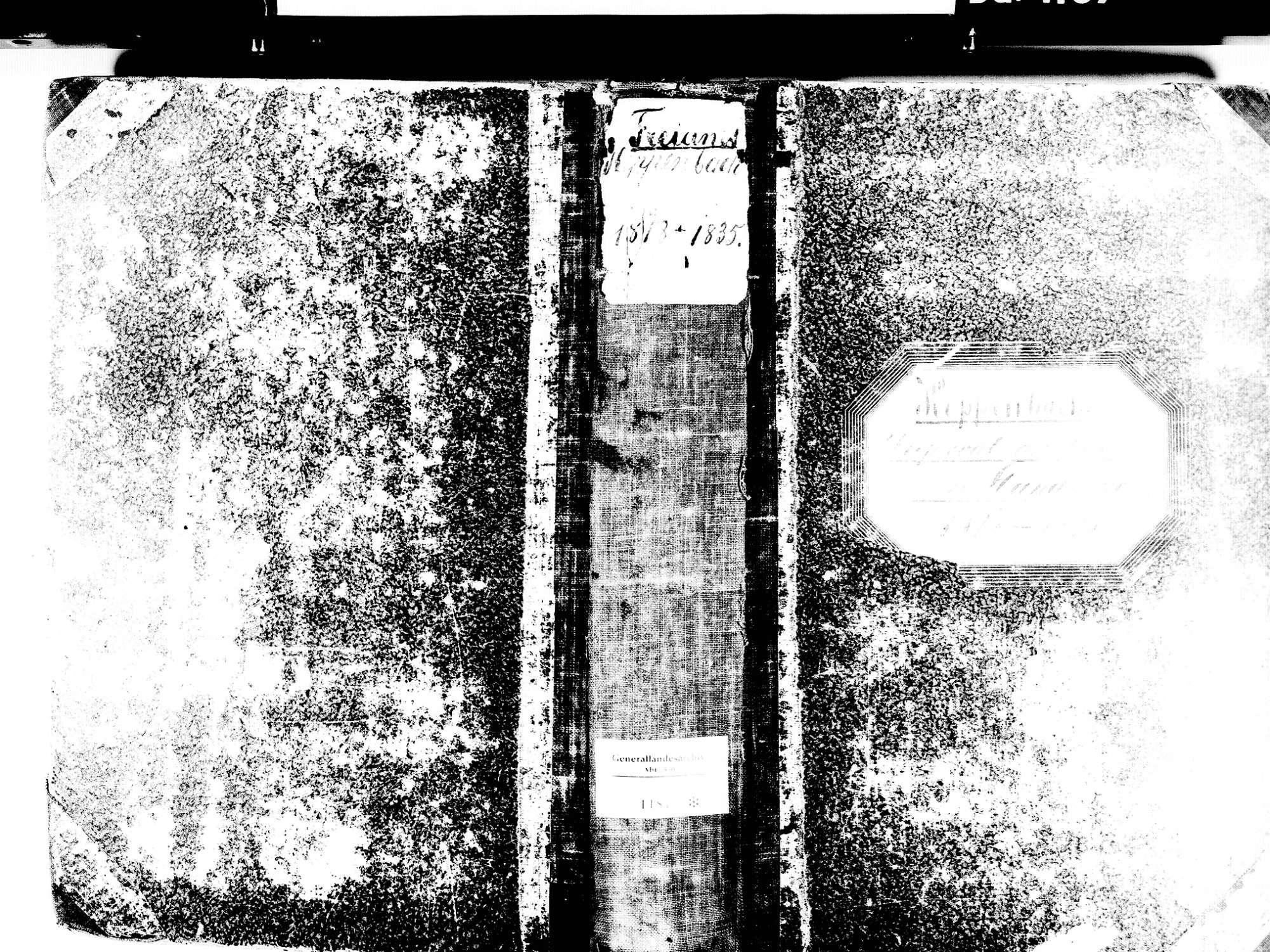 Freiamt EM; Evangelische Gemeinde: Standesbuch 1818-1835, Bild 1