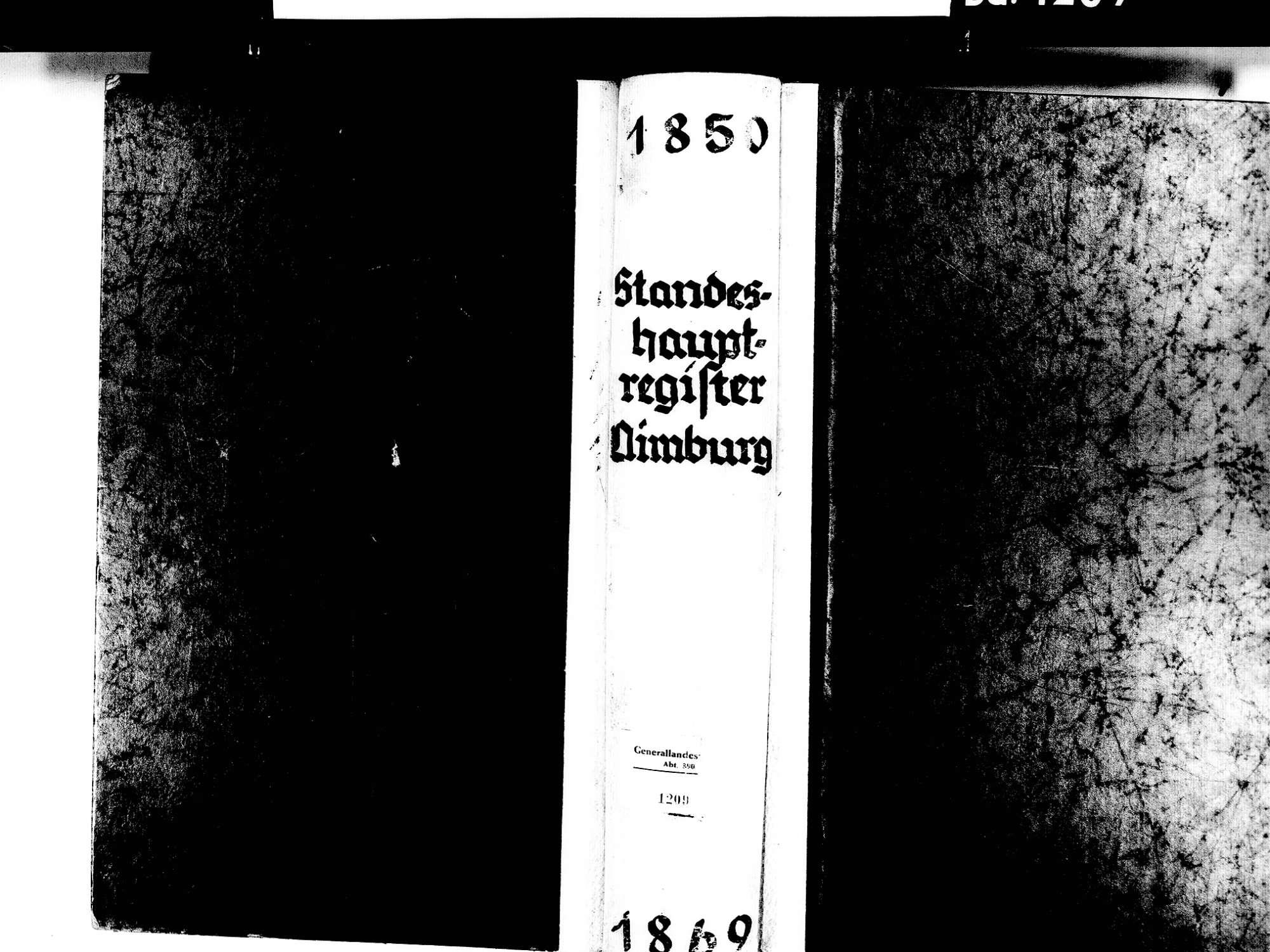 Nimburg, Teningen EM; Evangelische Gemeinde: Standesbuch 1850-1869 Enthält: Einzelne Katholische Einträge, Bild 1