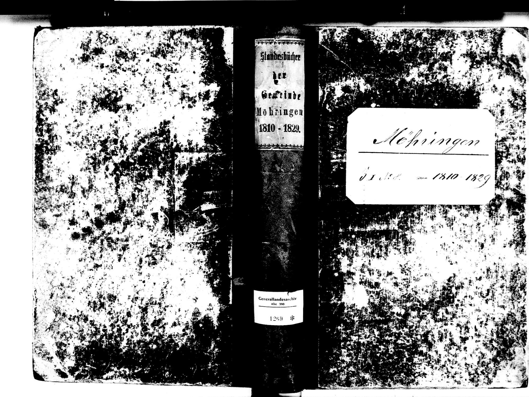 Möhringen, Tuttlingen TUT; Katholische Gemeinde: Standesbuch 1810-1829, Bild 1