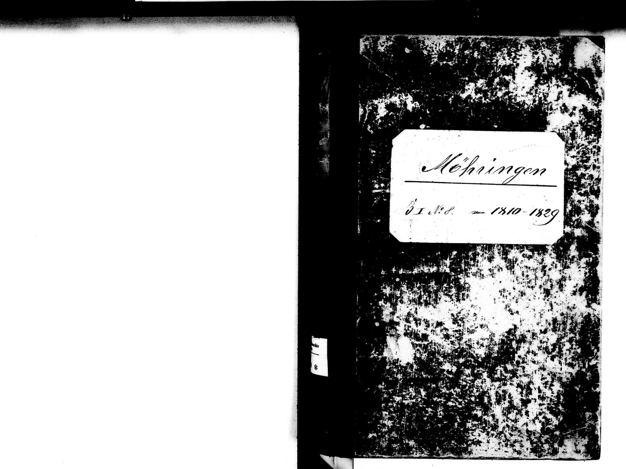 Möhringen, Tuttlingen TUT; Katholische Gemeinde: Standesbuch 1810-1829, Bild 2