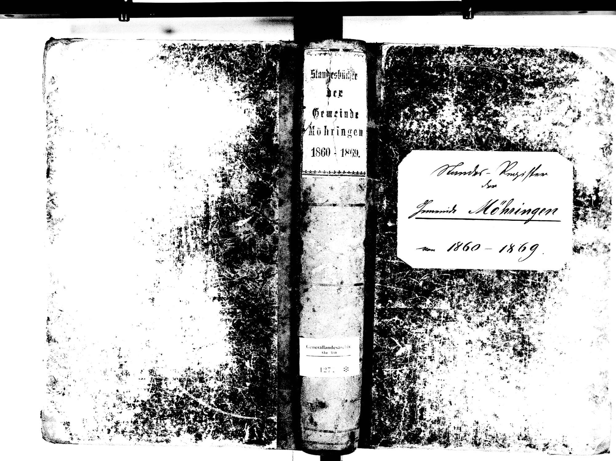 Möhringen, Tuttlingen TUT; Katholische Gemeinde: Standesbuch 1860-1869, Bild 1