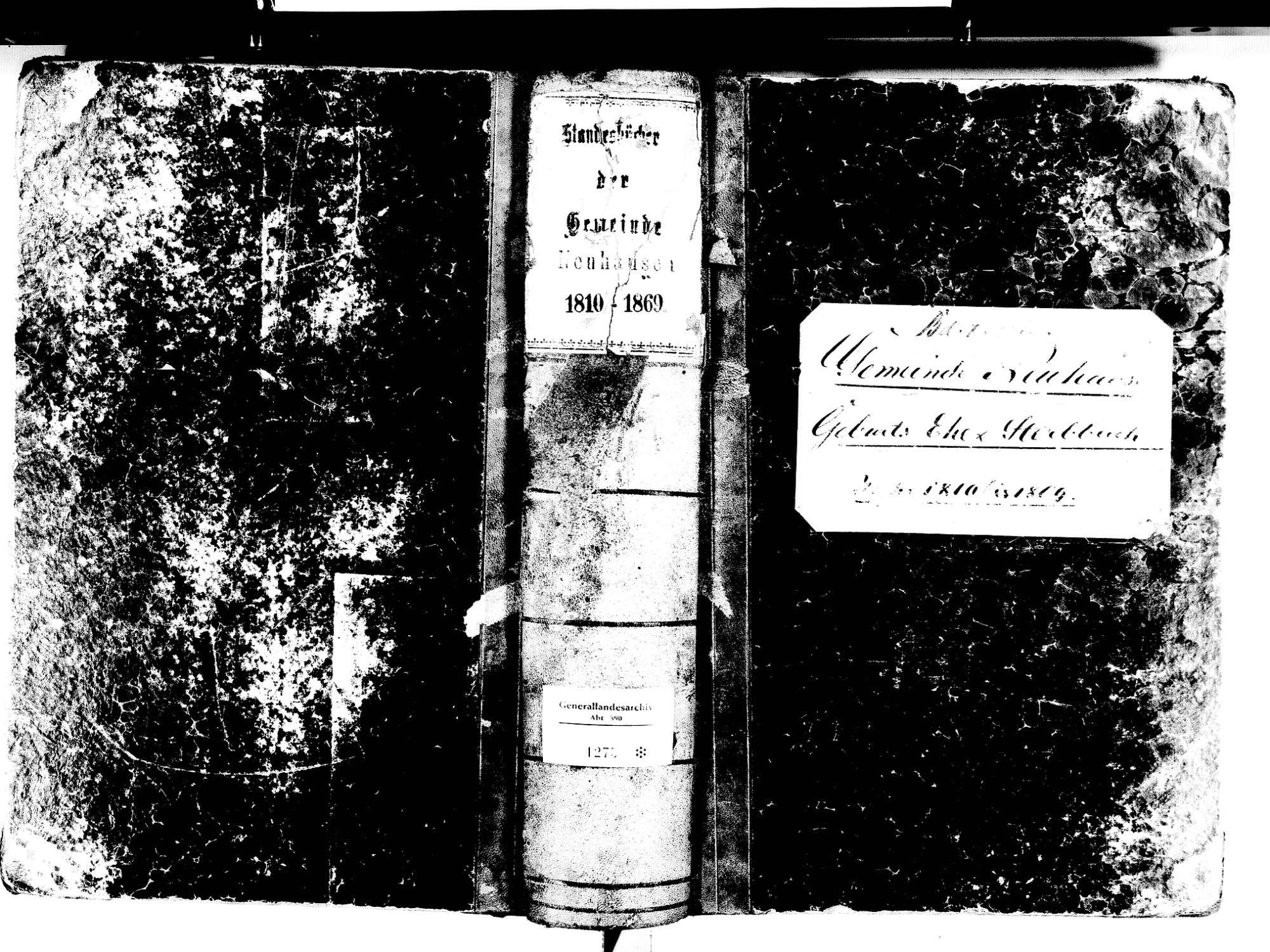 Neuhausen, Engen KN; Katholische Gemeinde: Standesbuch 1810-1869, Bild 1