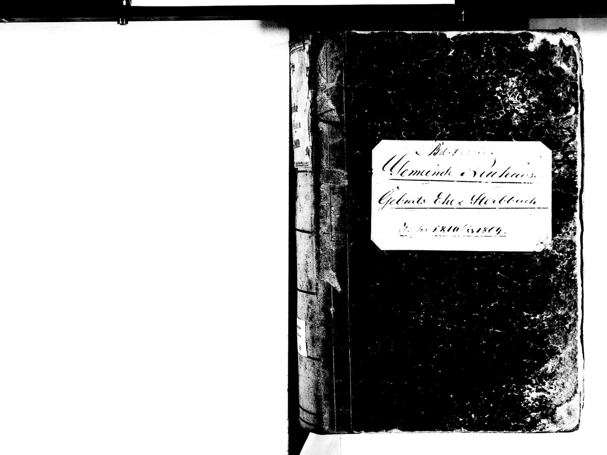 Neuhausen, Engen KN; Katholische Gemeinde: Standesbuch 1810-1869, Bild 2