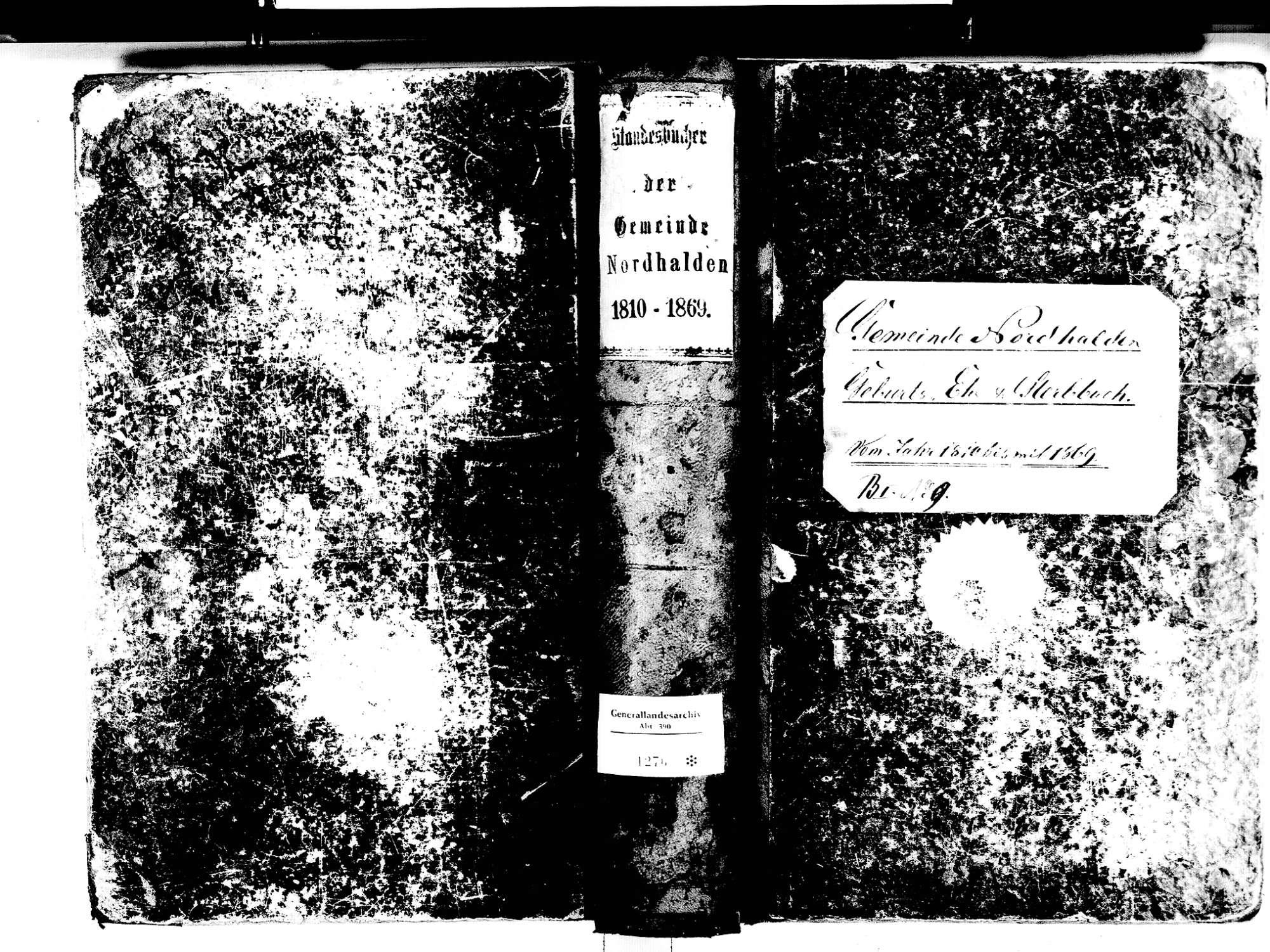 Nordhalden, Blumberg VS; Katholische Gemeinde: Standesbuch 1810-1869, Bild 1