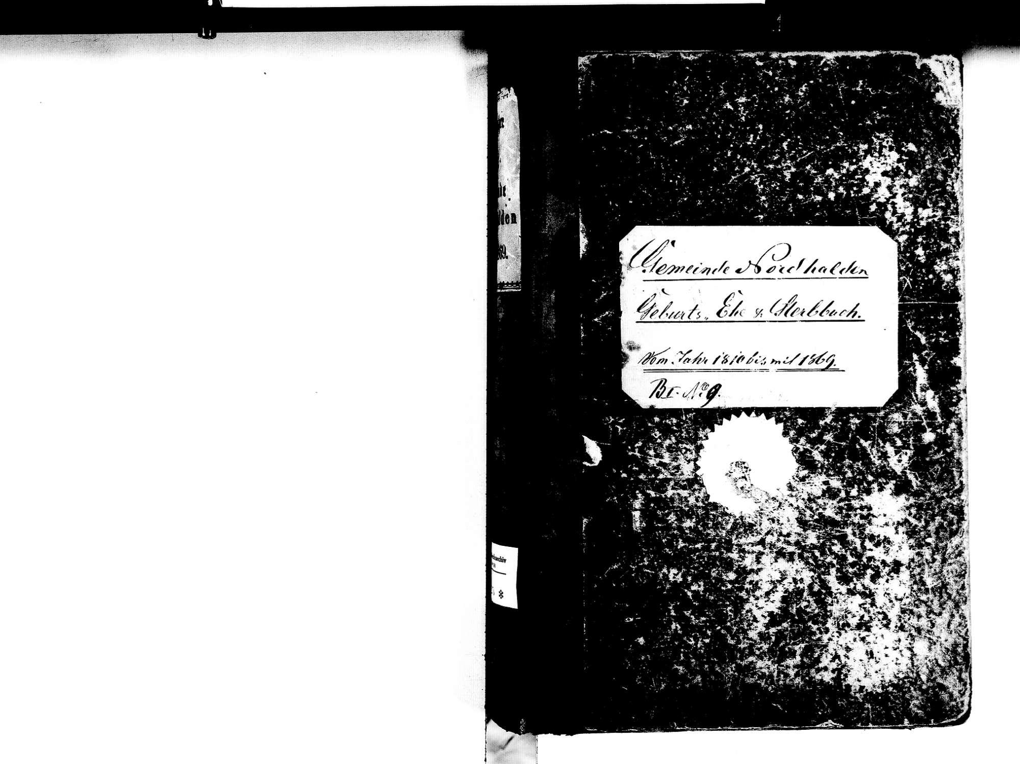 Nordhalden, Blumberg VS; Katholische Gemeinde: Standesbuch 1810-1869, Bild 2