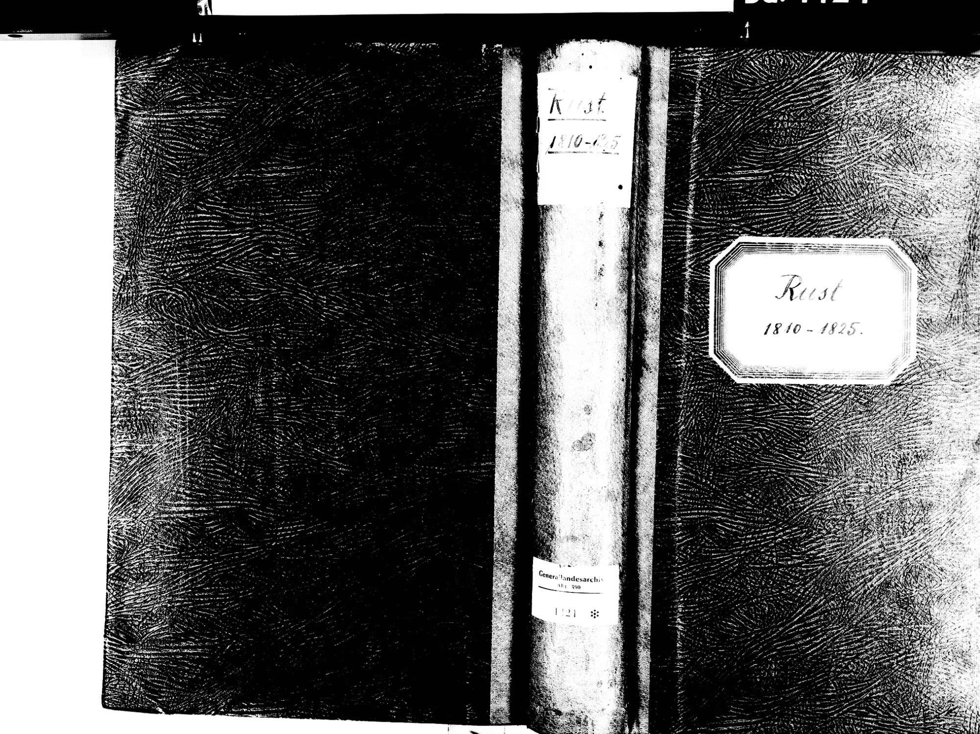 Rust OG; Katholische Gemeinde: Standesbuch 1810-1825, Bild 1