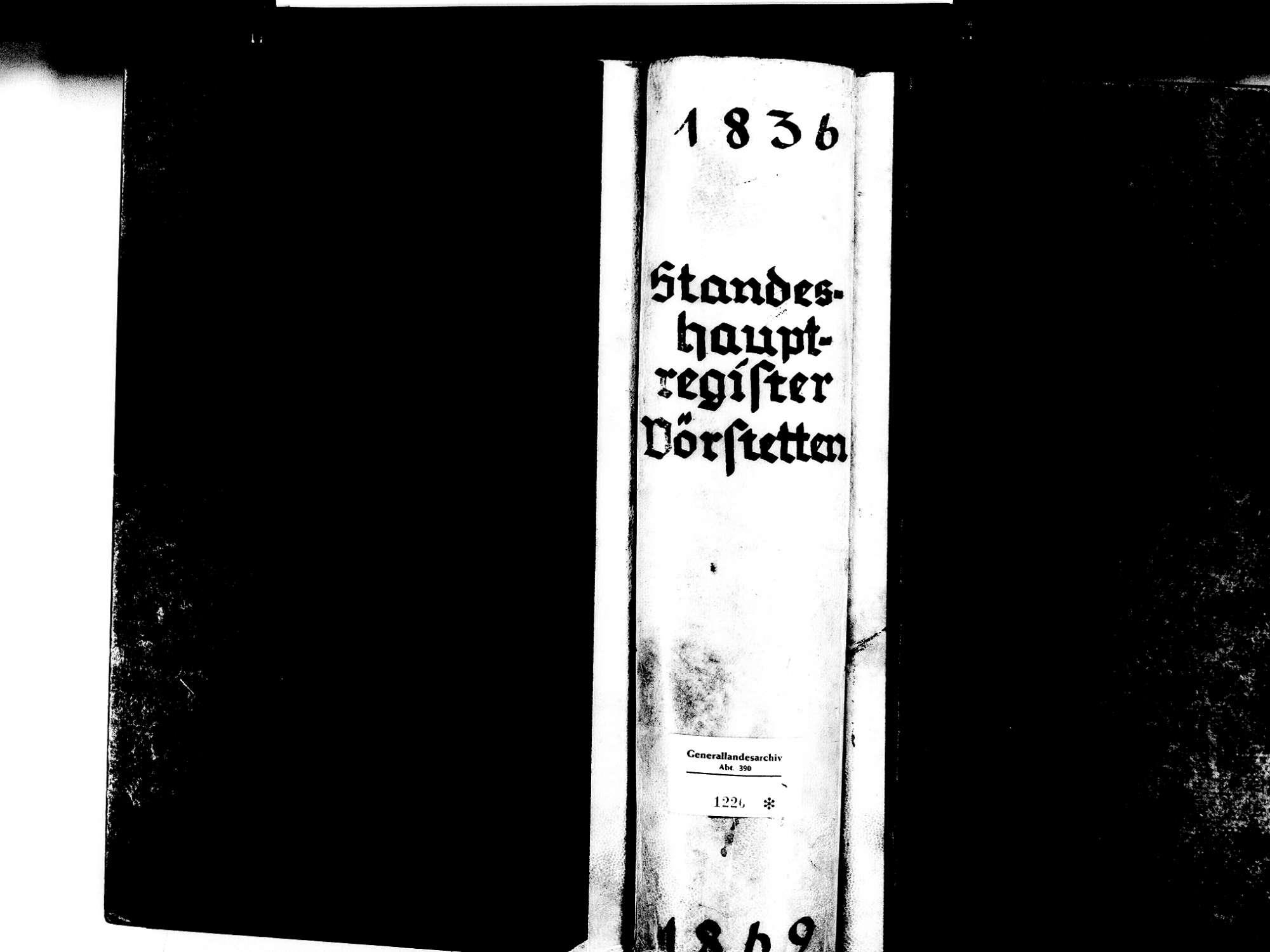 Vörstetten EM; Evangelische Gemeinde: Standesbuch 1836-1869 Enthält: Einzelne Katholische Einträge, Bild 1
