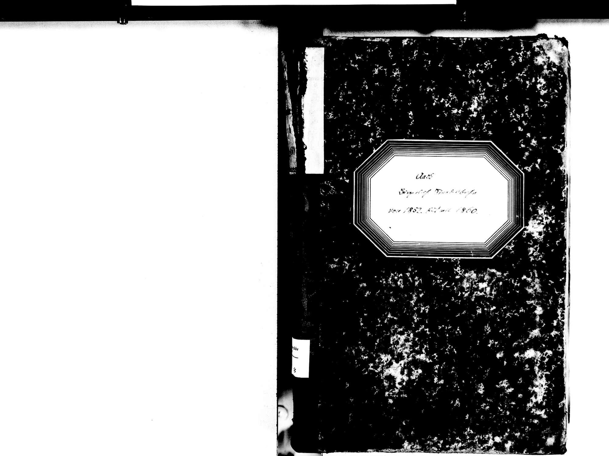 Aach KN; Katholische Gemeinde: Standesbuch 1852-1860, Bild 2