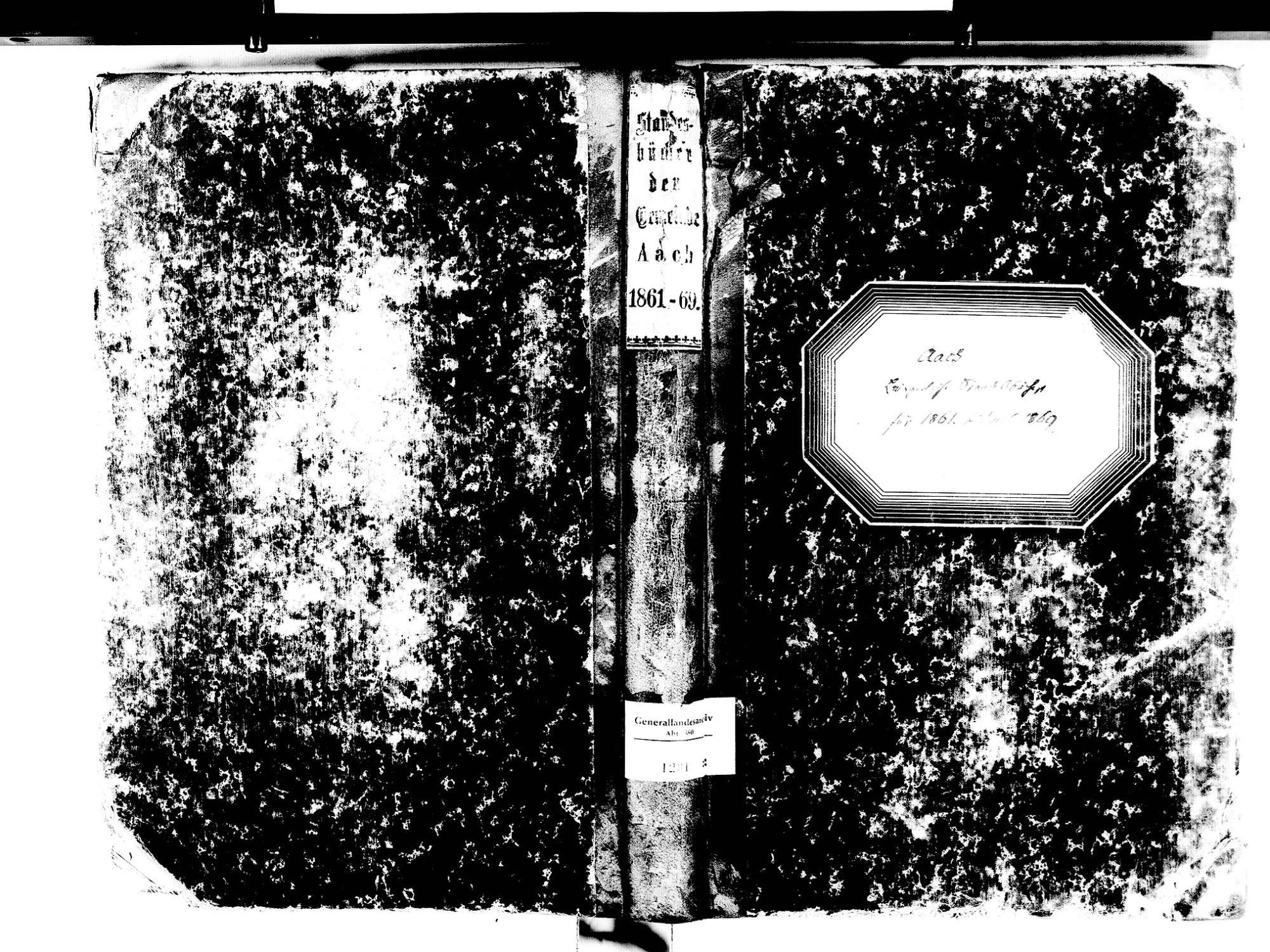 Aach KN; Katholische Gemeinde: Standesbuch 1861-1869, Bild 1