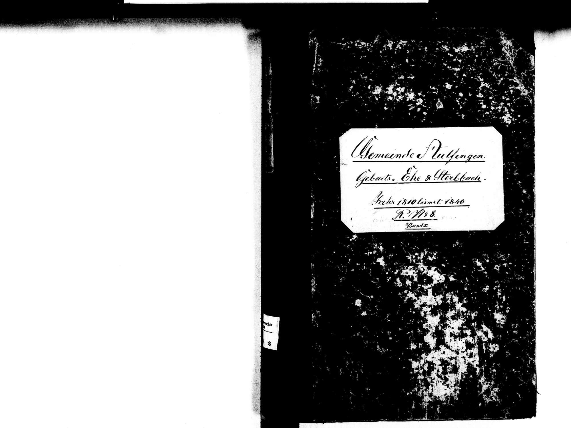 Aulfingen, Geisingen TUT; Katholische Gemeinde: Standesbuch 1810-1840, Bild 2