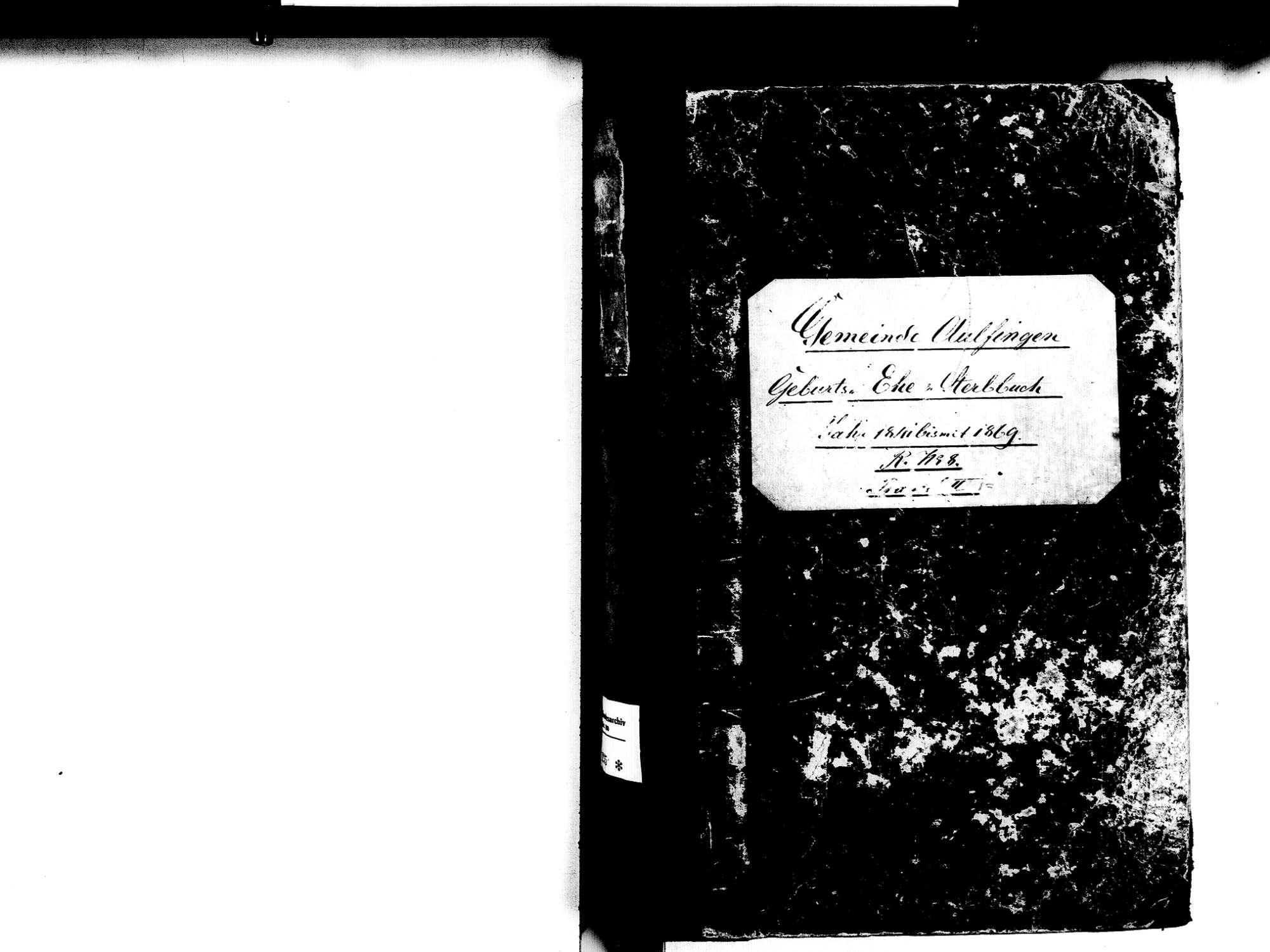 Aulfingen, Geisingen TUT; Katholische Gemeinde: Standesbuch 1841-1869, Bild 2