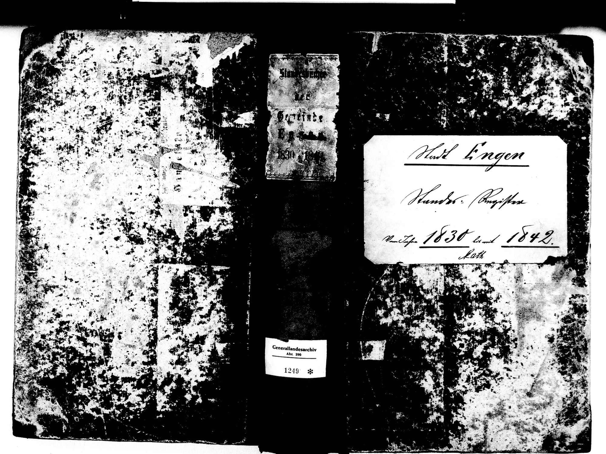 Engen KN; Katholische Gemeinde: Standesbuch 1830-1842, Bild 1