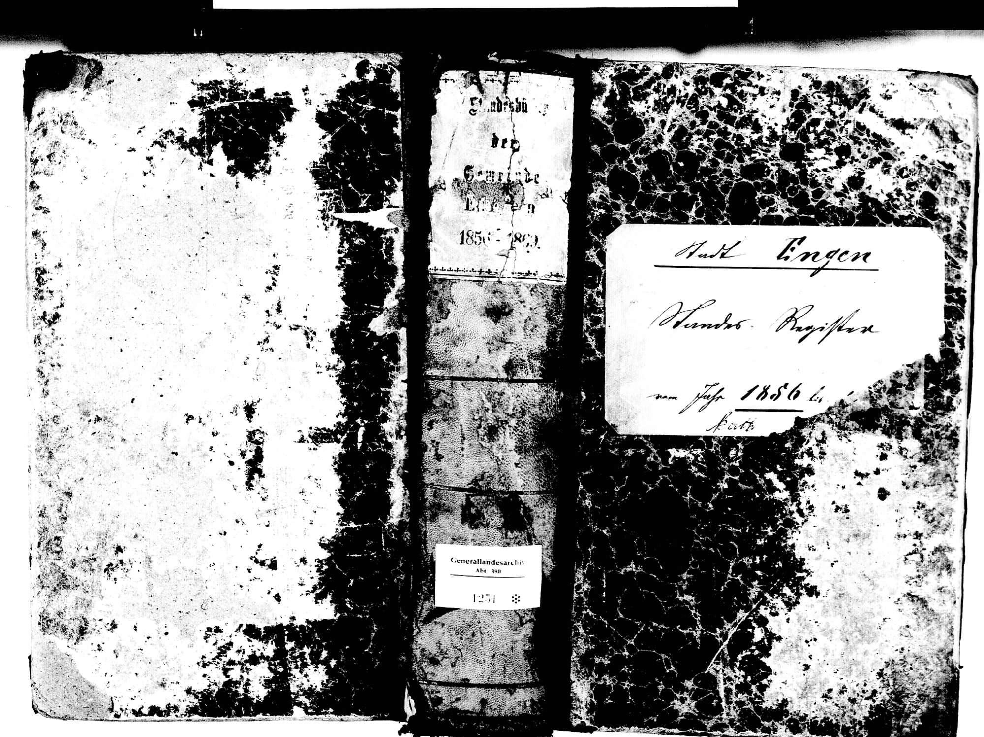 Engen KN; Katholische Gemeinde: Standesbuch 1856-1869, Bild 1