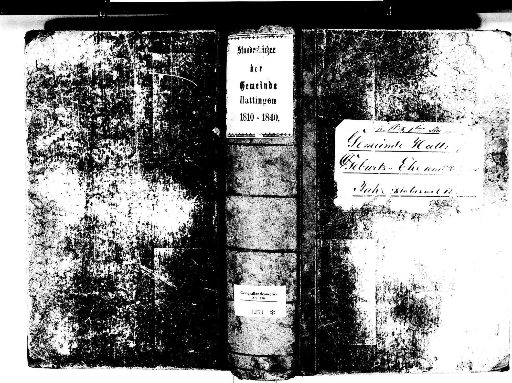 Hattingen, Immendingen TUT; Katholische Gemeinde: Standesbuch 1810-1840, Bild 1