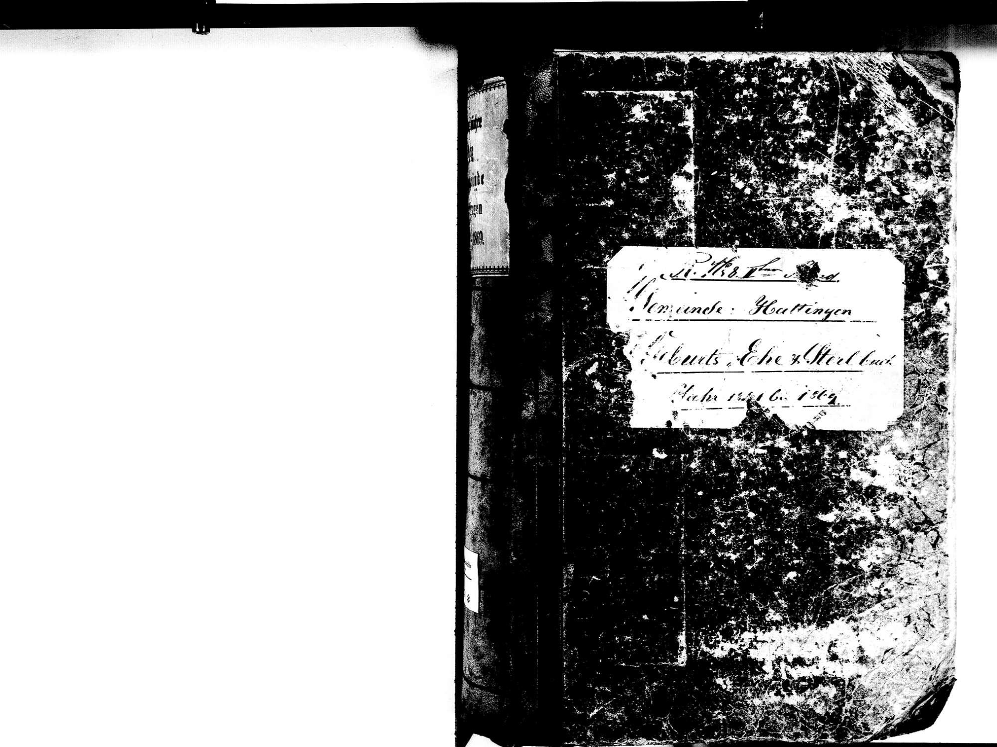 Hattingen, Immendingen TUT; Katholische Gemeinde: Standesbuch 1841-1869, Bild 2
