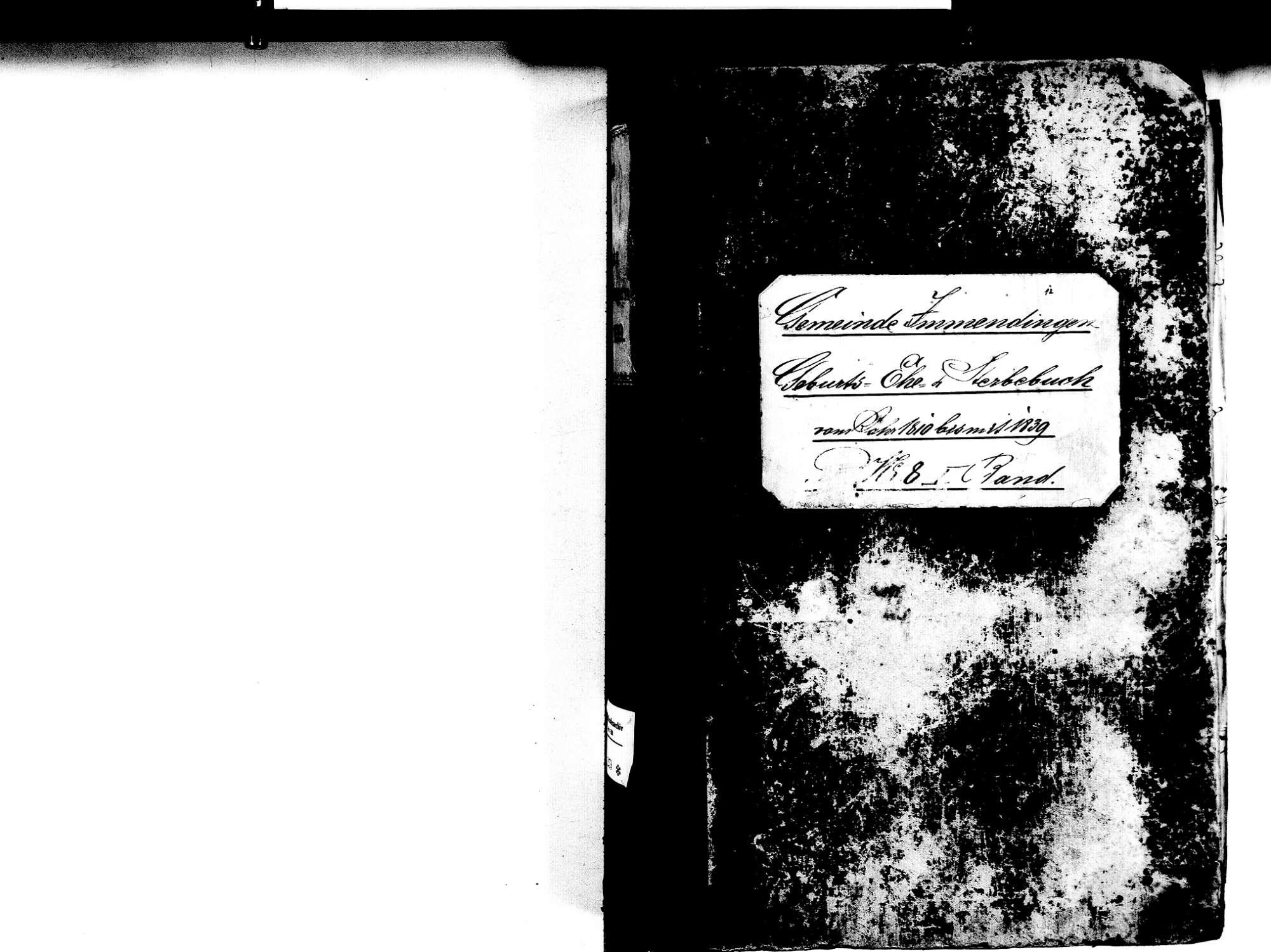Immendingen TUT; Katholische Gemeinde: Standesbuch 1810-1839, Bild 2
