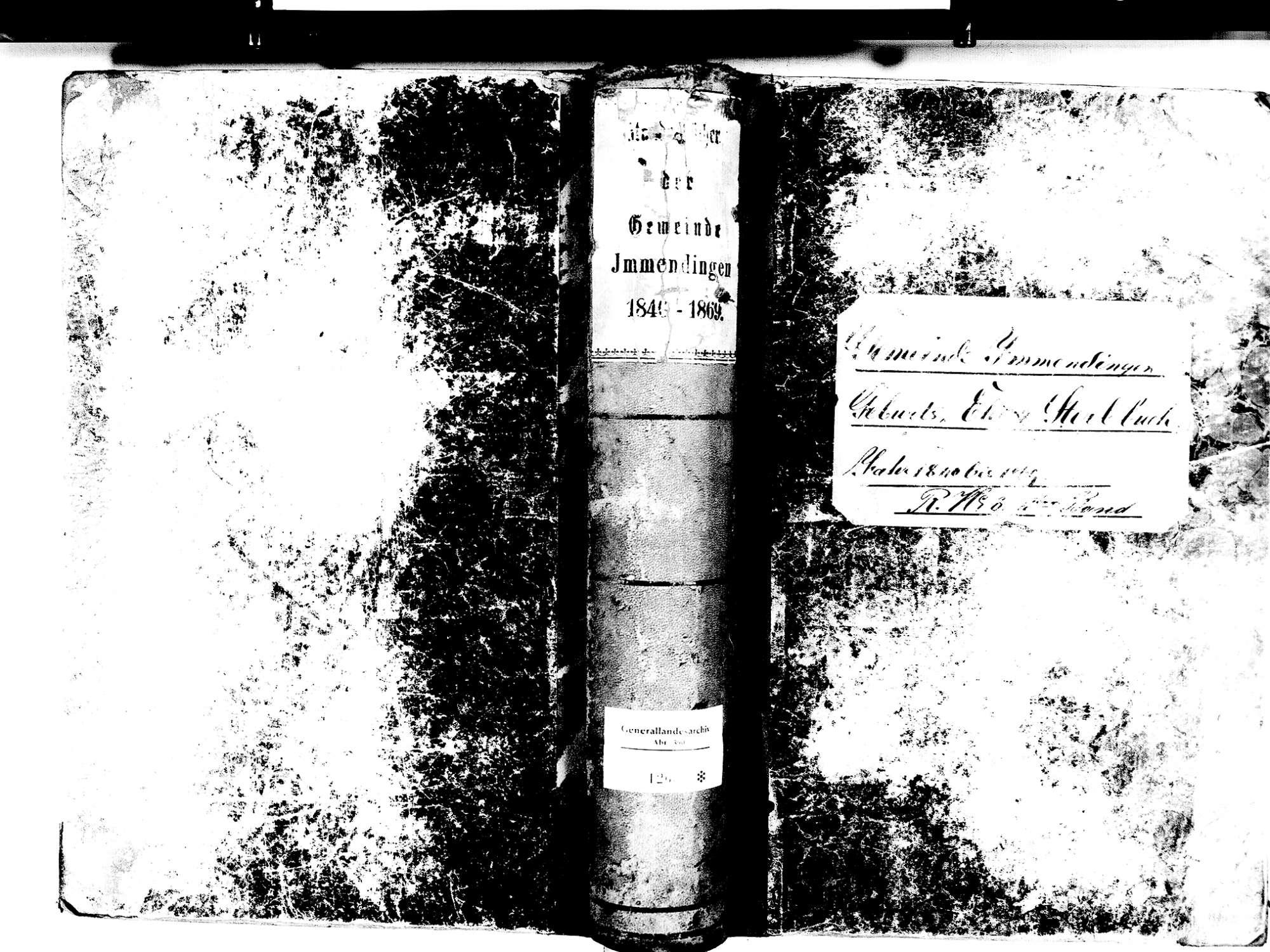 Immendingen TUT; Katholische Gemeinde: Standesbuch 1840-1869, Bild 1
