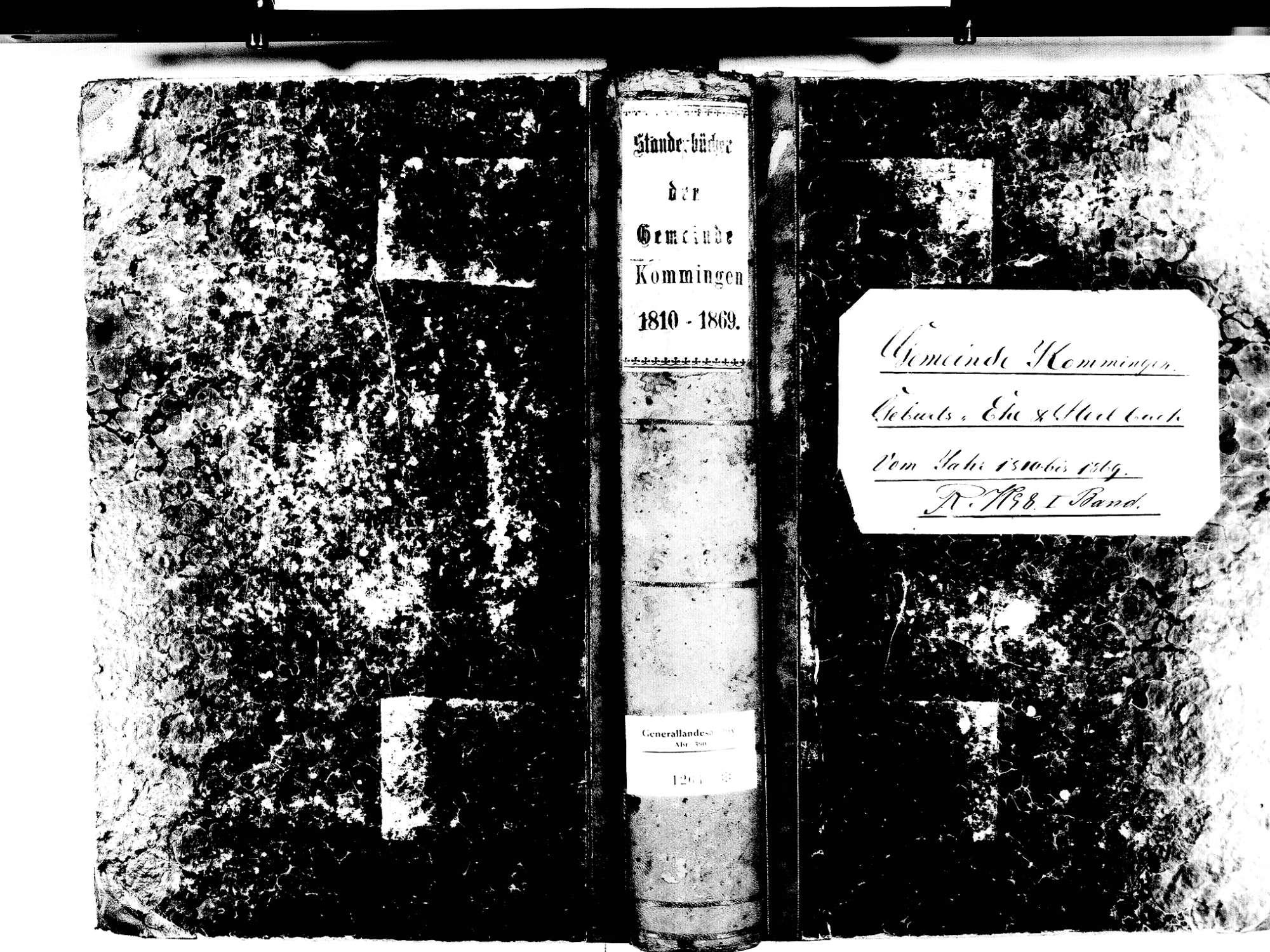 Kommingen, Blumberg VS; Katholische Gemeinde: Standesbuch 1810-1869, Bild 1