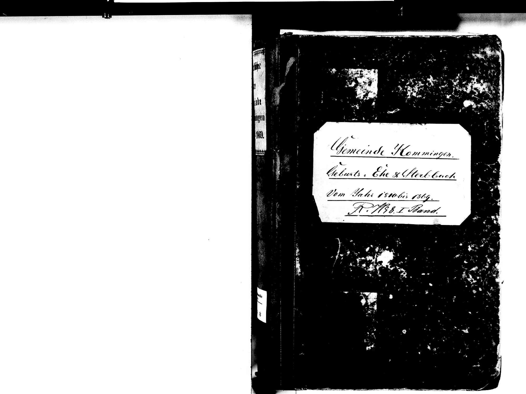 Kommingen, Blumberg VS; Katholische Gemeinde: Standesbuch 1810-1869, Bild 2