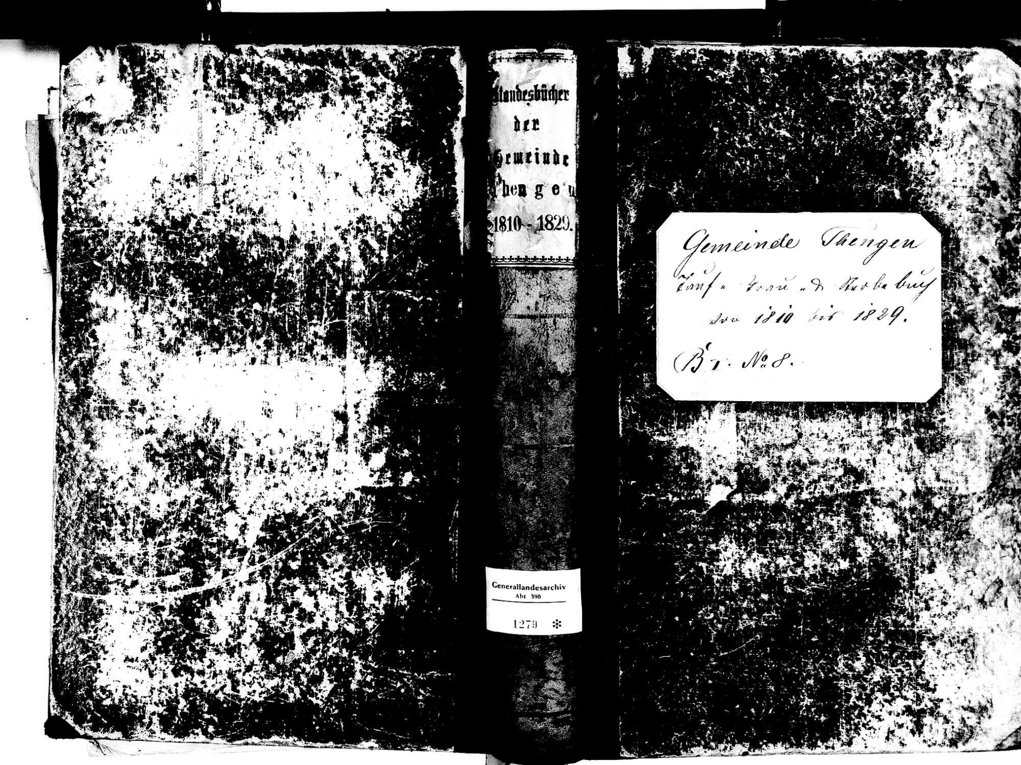 Tengen KN; Katholische Gemeinde: Standesbuch 1810-1829, Bild 1